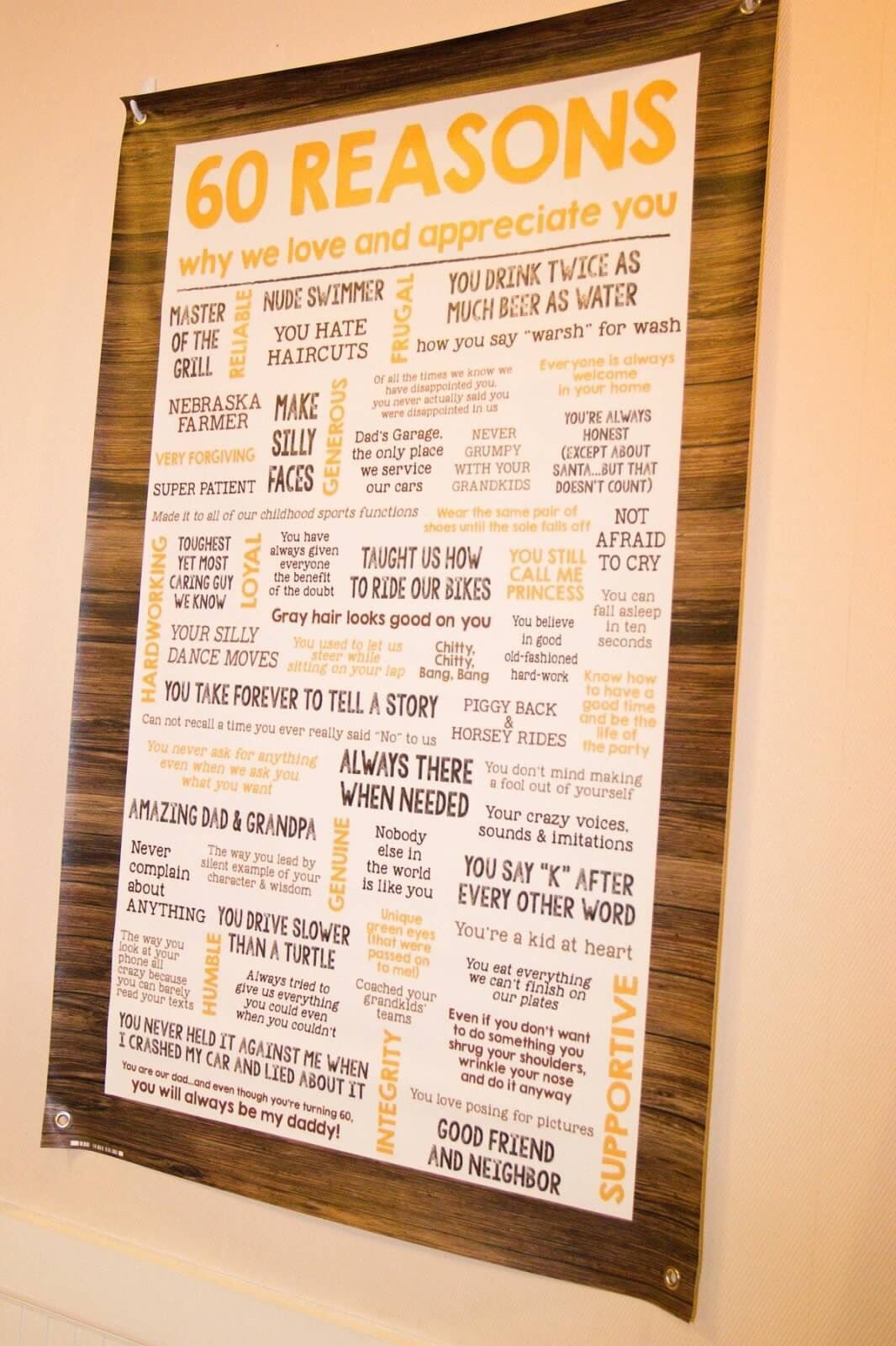 10 Stunning 60Th Birthday Gift Ideas For Men rustic 60th birthday party 60 reasons why we love you banner posh 5 2021