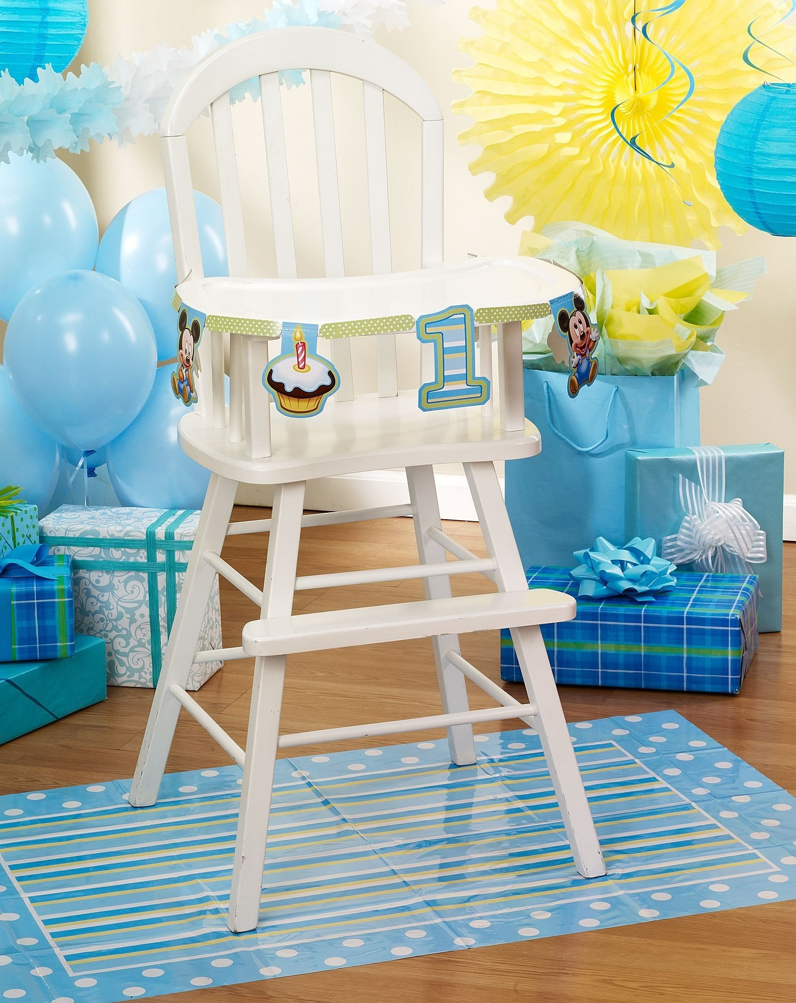 rustic baby mickey mouse 1st birthday party pack supplies for 16
