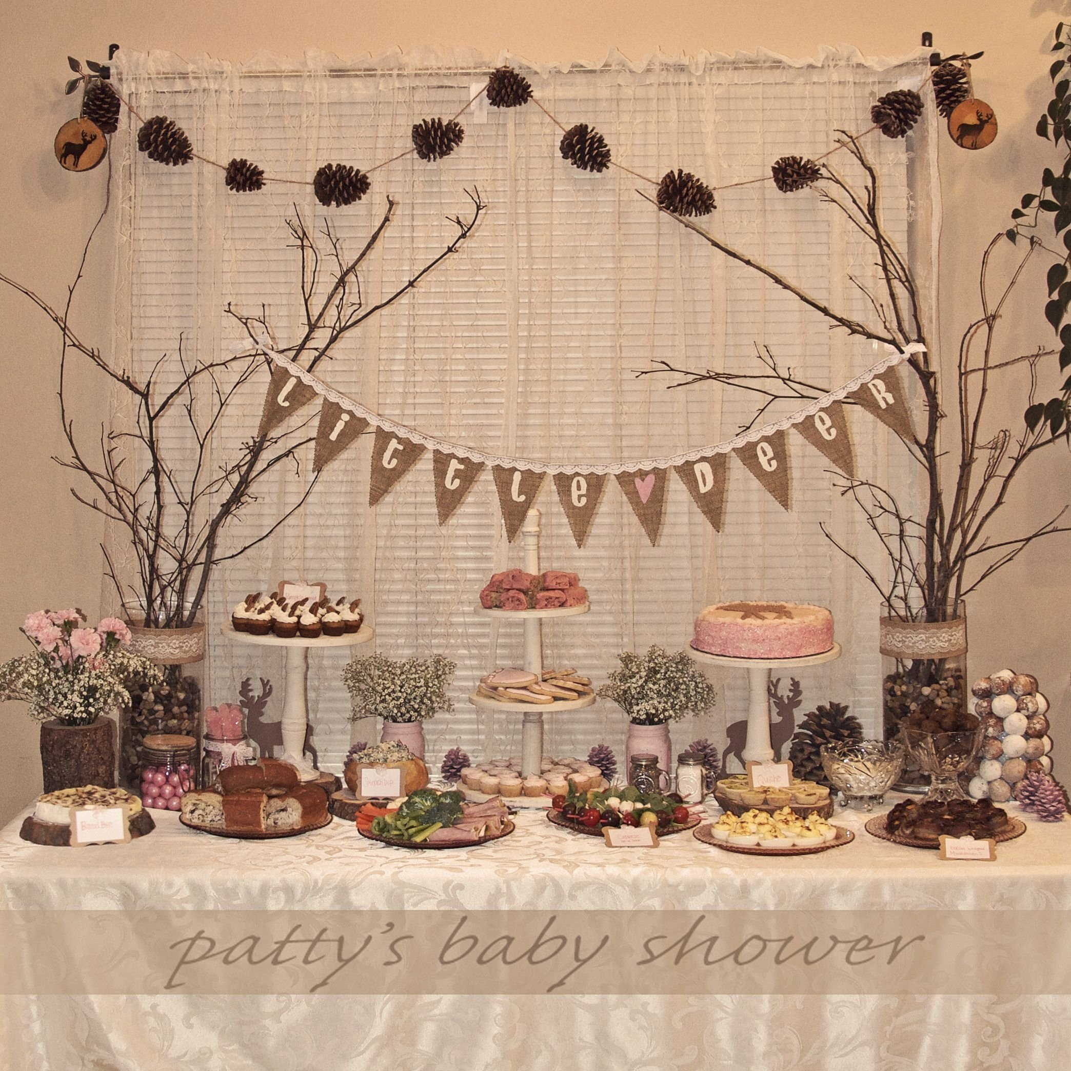 10 Unique Country Themed Baby Shower Ideas rustic baby shower deer theme country pink little deer woodland 1 2021