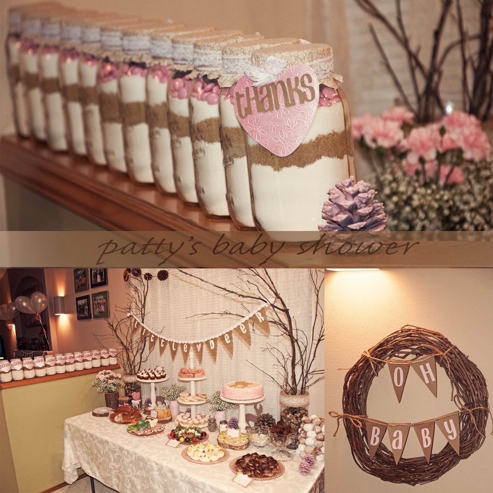10 Unique Country Themed Baby Shower Ideas rustic baby shower deer theme country pink little deer woodland 2021
