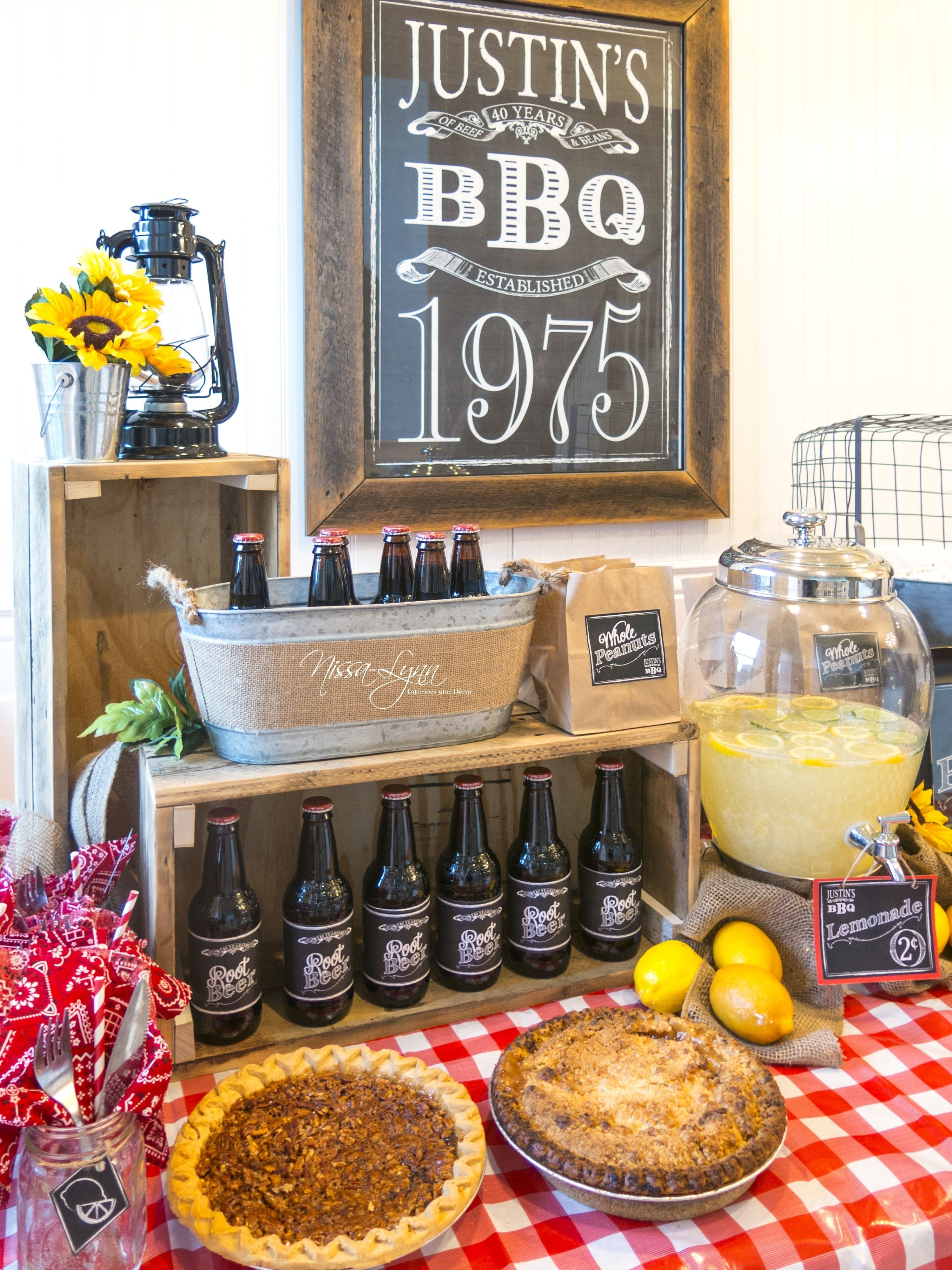 10 Most Popular 40Th Birthday Party Ideas For Husband Rustic Bbq Man 40th