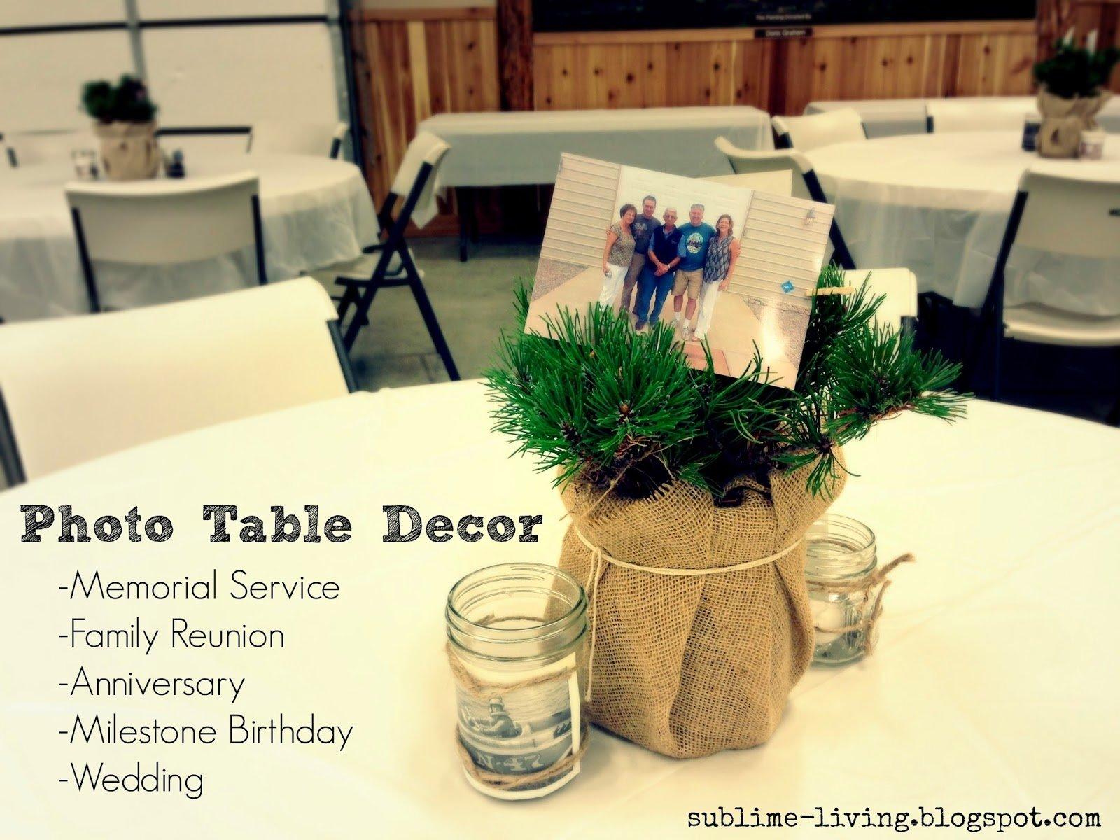 10 Most Popular Ideas For A Memorial Service rustic burlap mason jar photo table decor centerpieces candles 2021