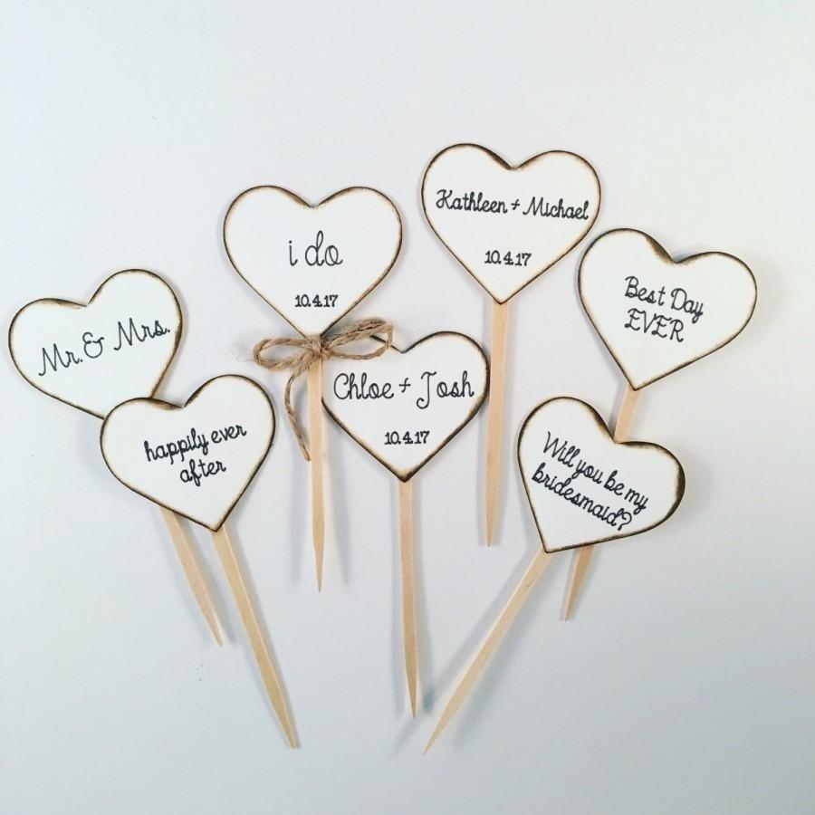 10 Beautiful Cupcake Ideas For Bridal Shower rustic heart cupcake toppers sasha wedding pinterest heart 2020