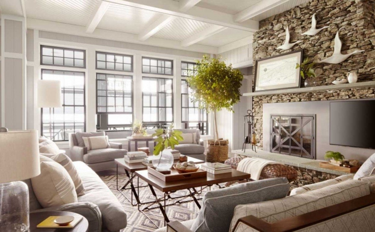 10 Stylish Lake House Decorating Ideas Pictures rustic lake house decorating ideas with wooden wall and flooring