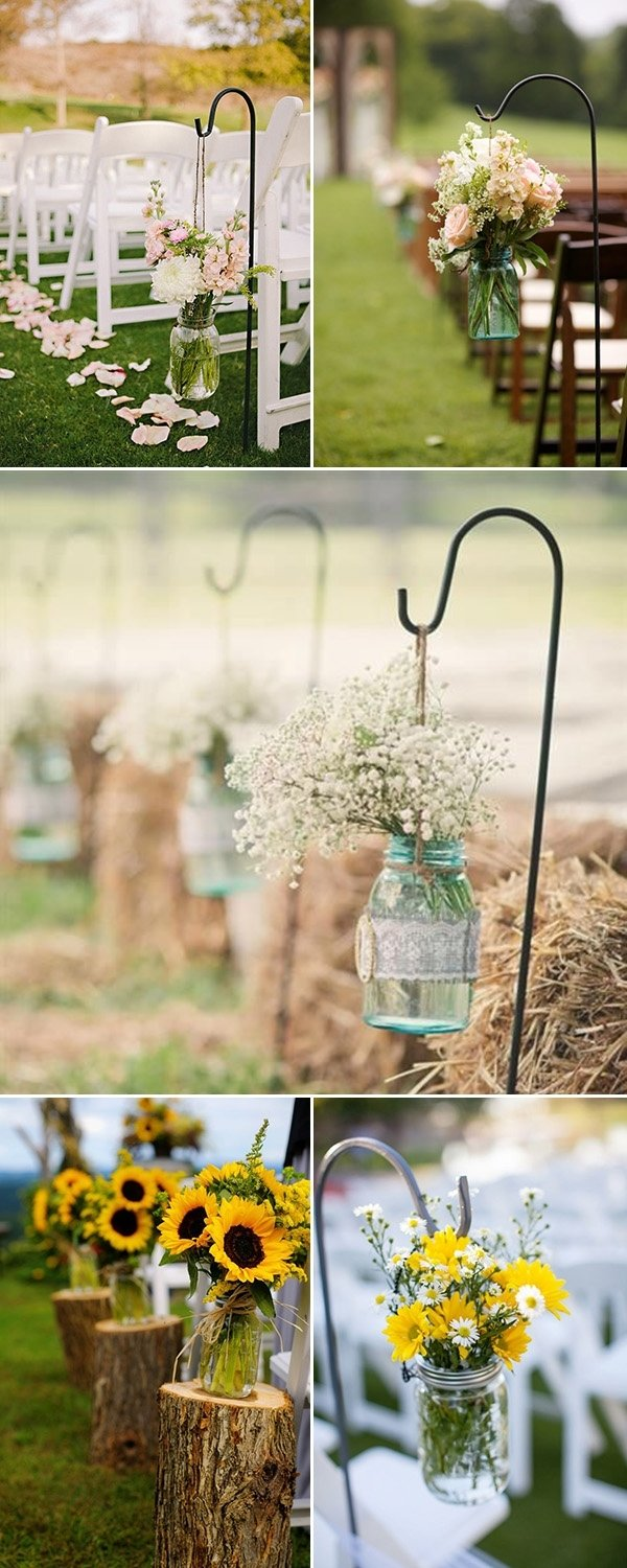 10 Stylish Mason Jar Wedding Centerpiece Ideas rustic wedding ideas 30 ways to use mason jars 4 2020