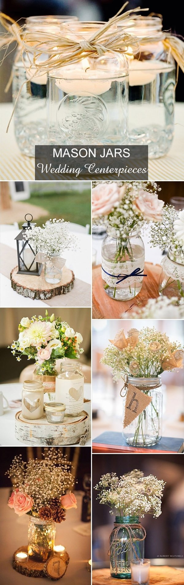 10 Lovable Mason Jar Ideas For Weddings rustic wedding ideas 30 ways to use mason jars 5 2020