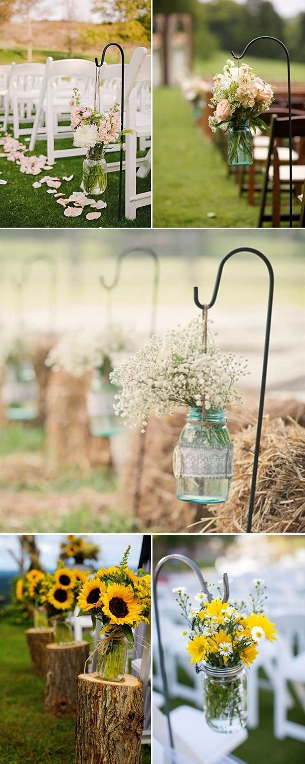 10 Lovable Mason Jar Ideas For Weddings rustic wedding ideas 30 ways to use mason jars outdoor wedding 2020