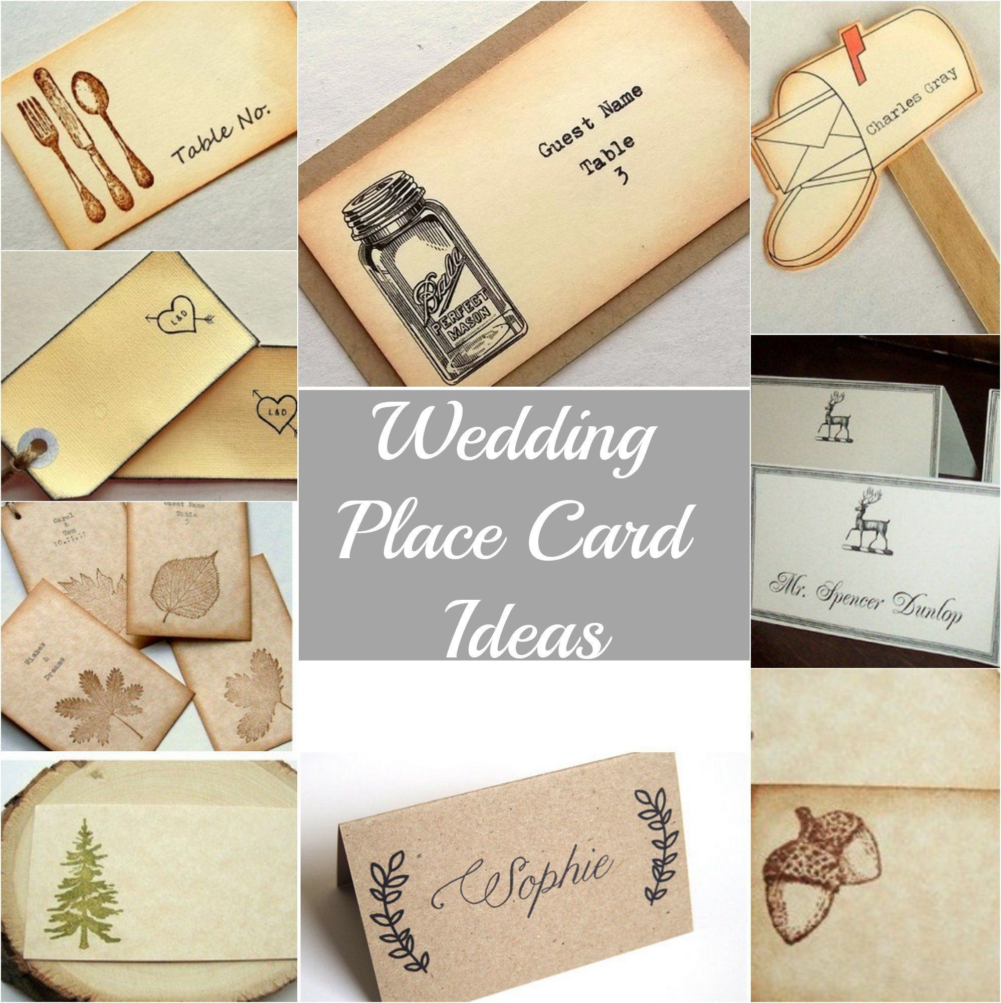10 Attractive Place Card Ideas For Wedding rustic wedding place cards rustic wedding chic 2021