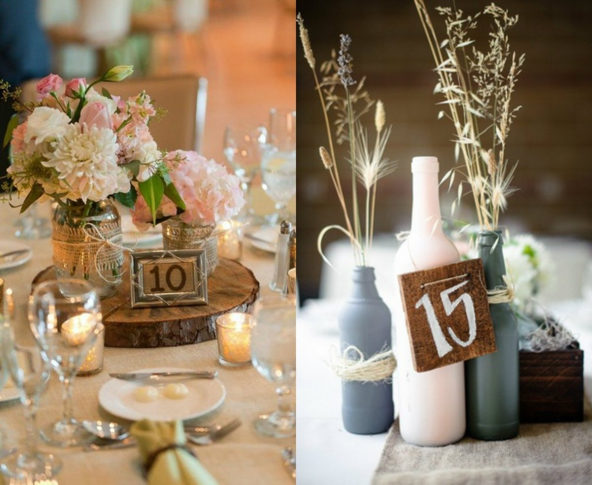 10 Fabulous Table Number Ideas For Wedding rustic wedding table number creative ideas weddceremony