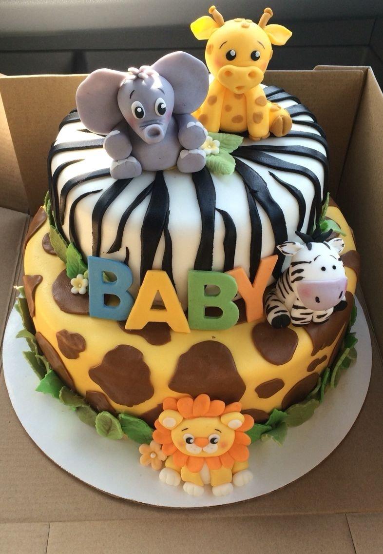 10 Stylish Safari Theme Baby Shower Ideas safari baby shower cake baby boy shower pinterest safari baby 1 2020