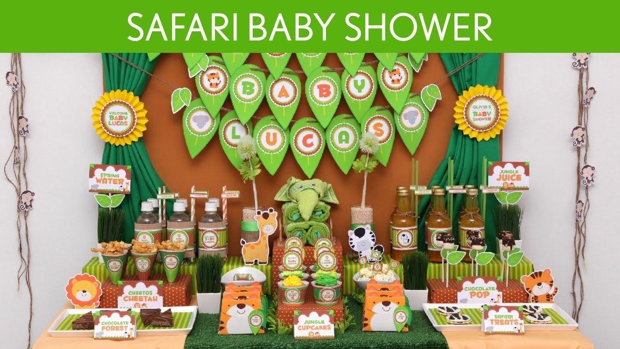 10 Great Jungle Safari Baby Shower Ideas safari baby shower party ideas safari s10 youtube