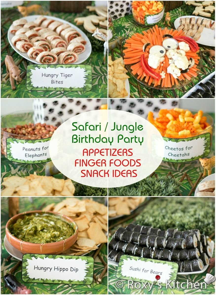 10 Best Jungle Baby Shower Food Ideas safari jungle themed first birthday party part ii appetizers 1 2021