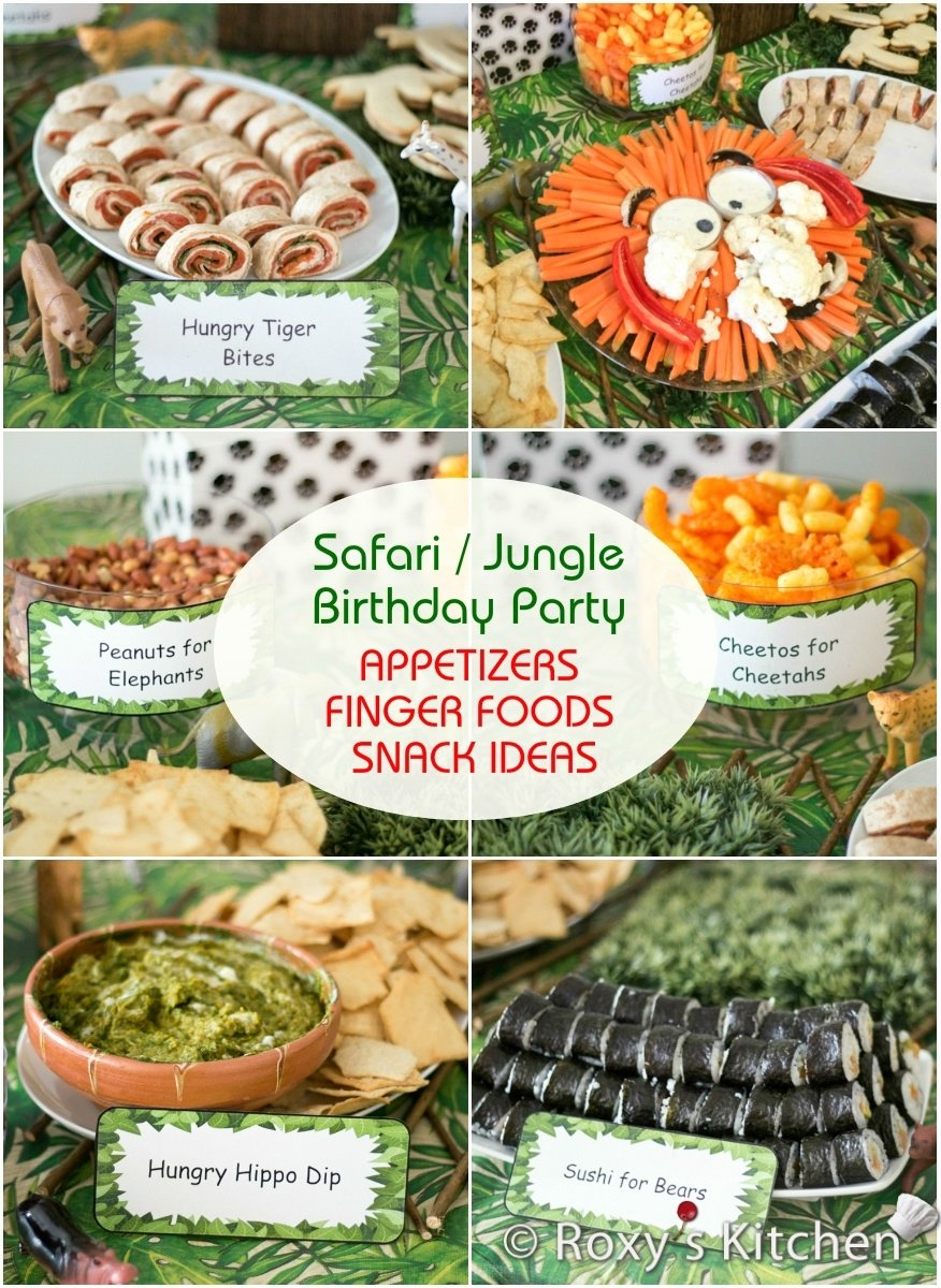 10 Elegant Birthday Party Finger Food Ideas safari jungle themed first birthday party part ii appetizers 3 2020