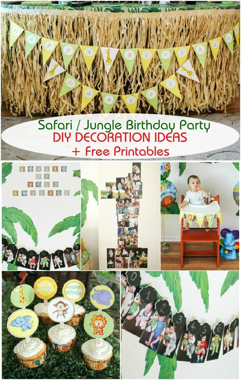 10 Spectacular Animal Themed Birthday Party Ideas safari jungle themed first birthday party part iii diy