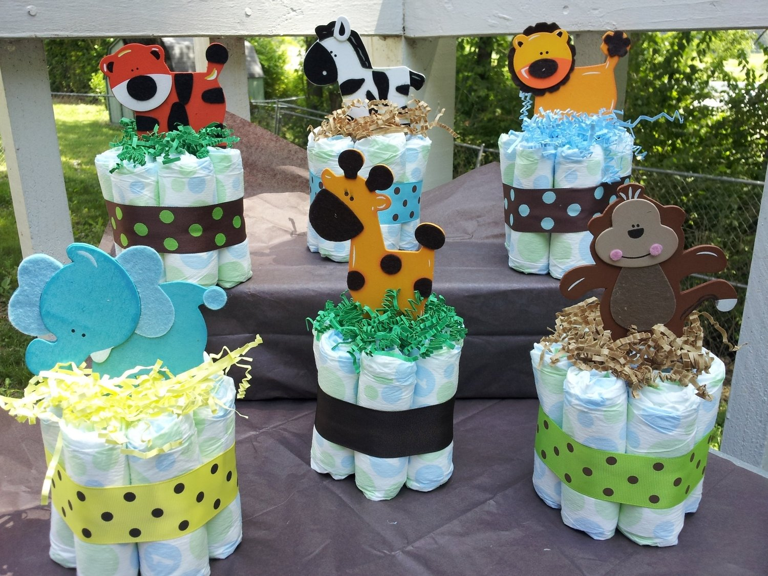 safari themed baby shower favors • baby showers design