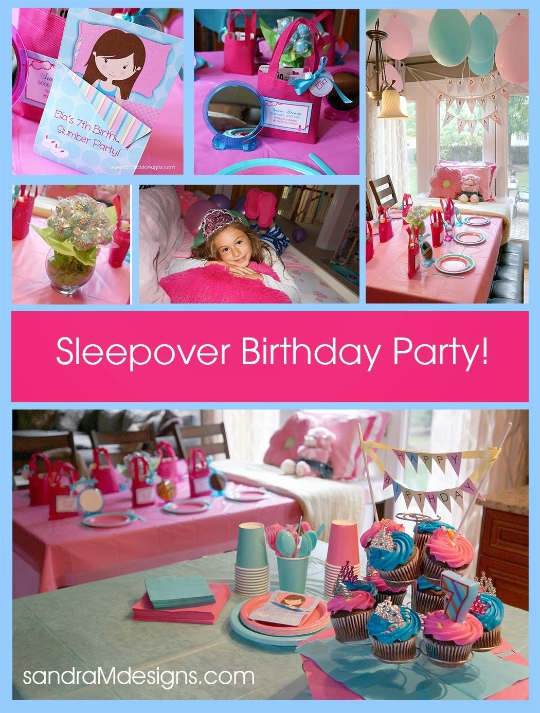 10 Amazing 8 Year Old Slumber Party Ideas sandra m designs real party 7th birthday slumber party 2020
