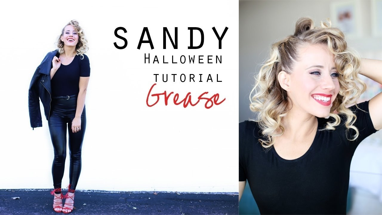 sandy from grease | hair tutorial + costume - youtube