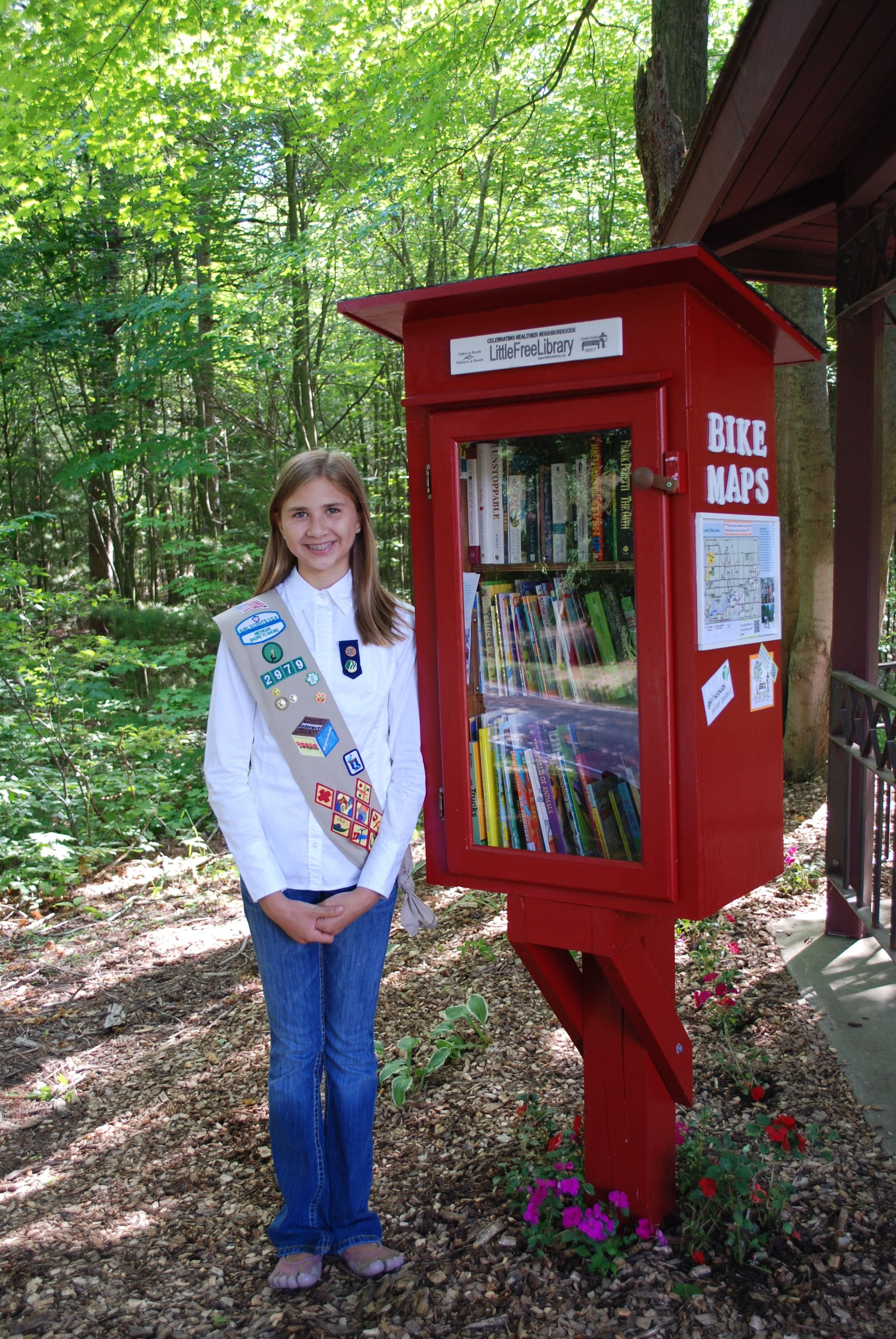 10 Awesome Girl Scouts Silver Award Ideas sara mitchem holland mi i did the little free library for my girl 2021