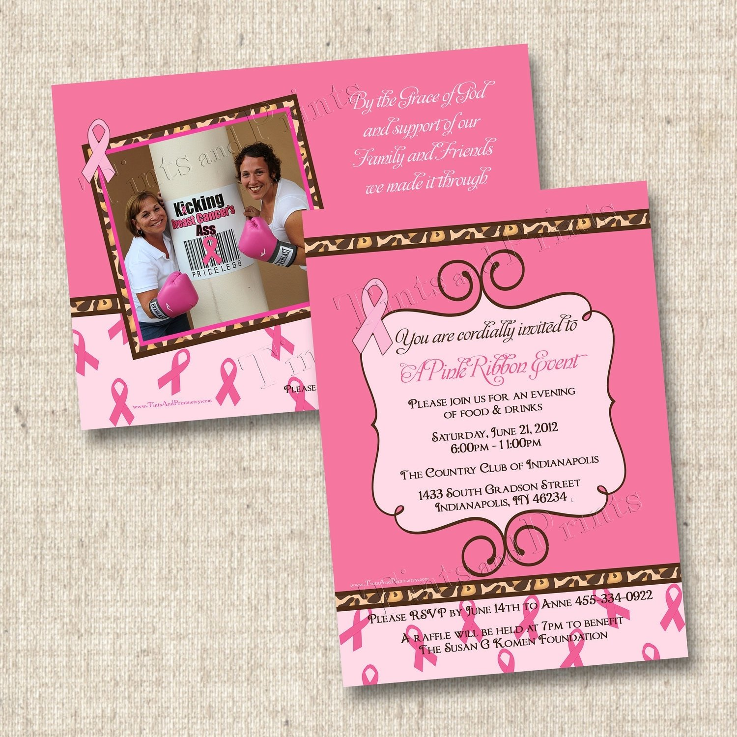 10 Stunning Breast Cancer Awareness Event Ideas sassy breast cancer benefit custom party invitation design with or 2020