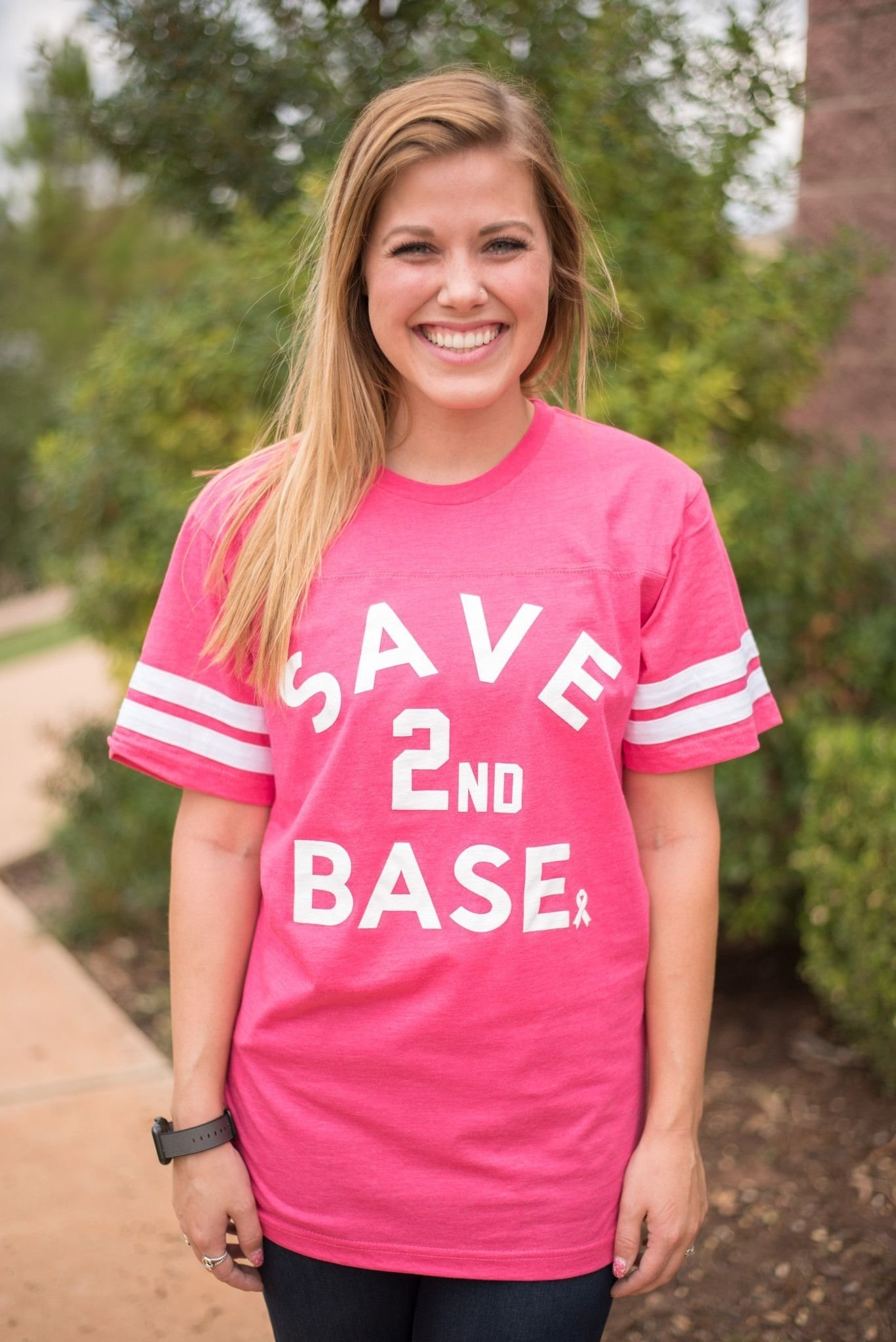 10 Awesome Breast Cancer Awareness Outfit Ideas save second base breast cancer awareness unisex t shirt weve 2020