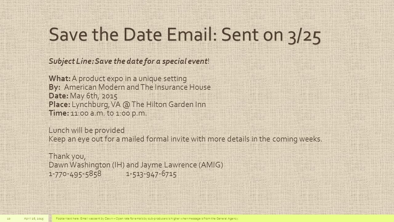 save the date emails | midway media