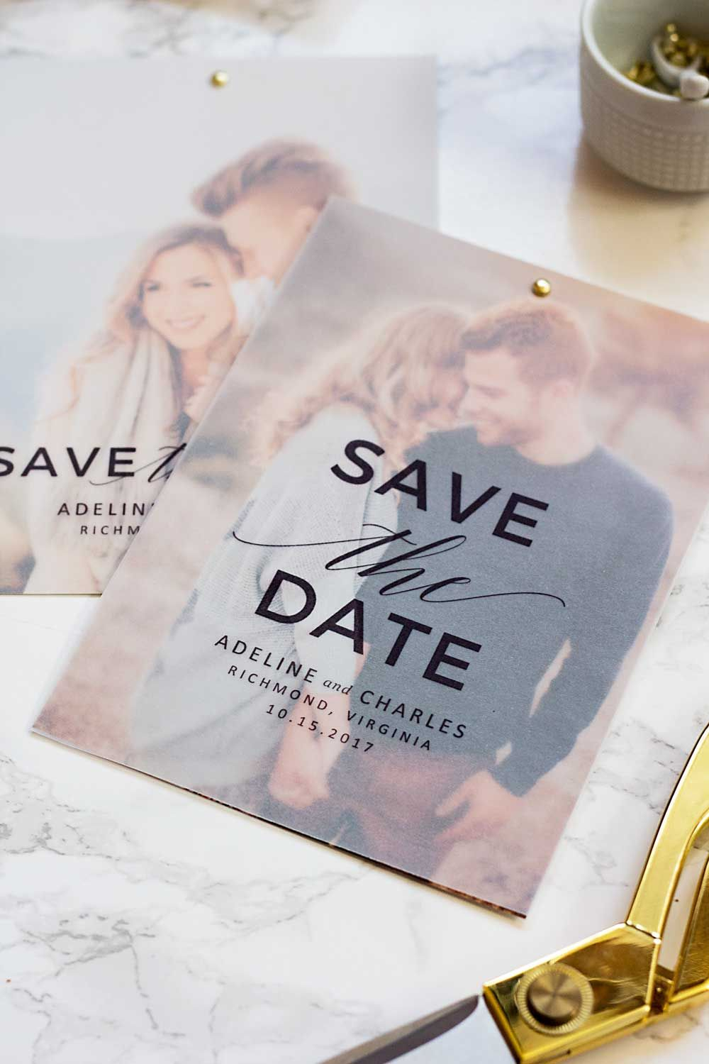 save the date postkarte, hochzeit, verlobung, paarshooting | diy