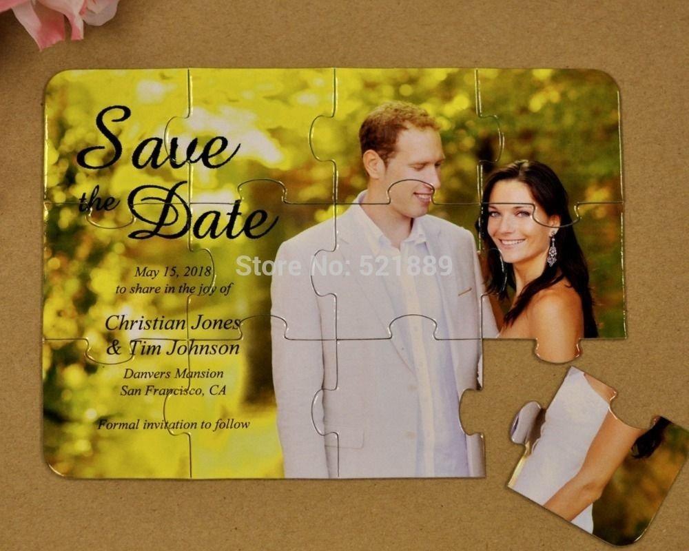 10 Elegant Save The Date Ideas Pinterest save the date quebra cabeca casamento criativo save the date 2020