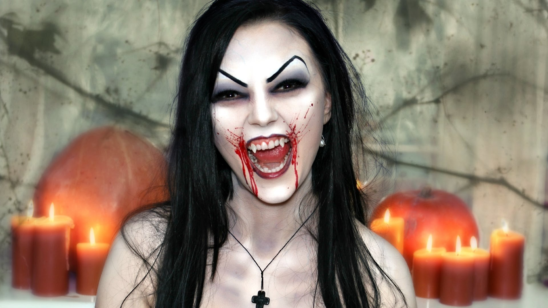 10 Cute Vampire Makeup Ideas For Kids scary sexy vampire makeup halloween face painting tutorial youtube 2 2020