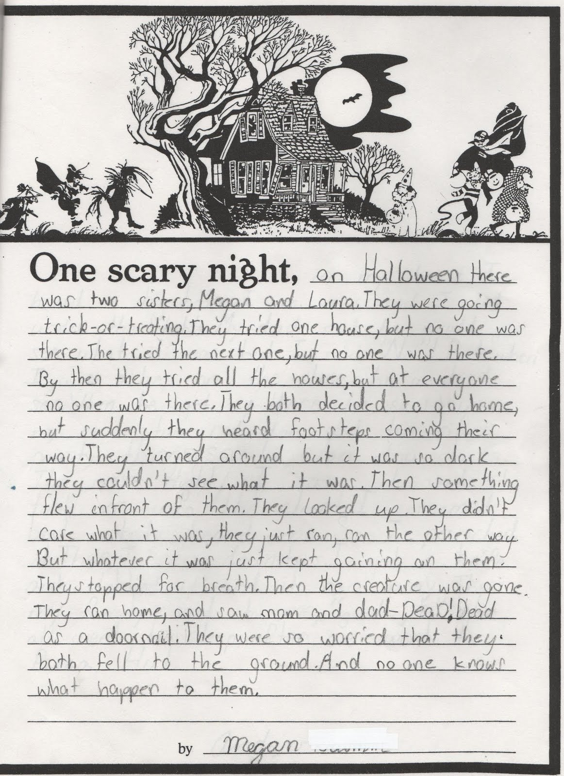 10 Spectacular Ideas For A Horror Story scary story writing elementary school enrichment activities 2020