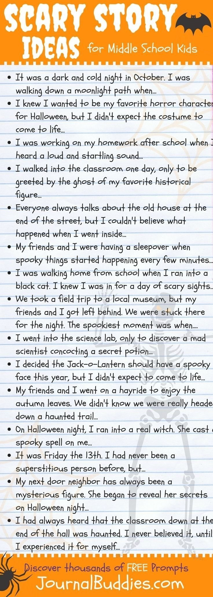 10 Attractive Writing Ideas For Middle School scary story writing ideas for middle school kids writing skills 2