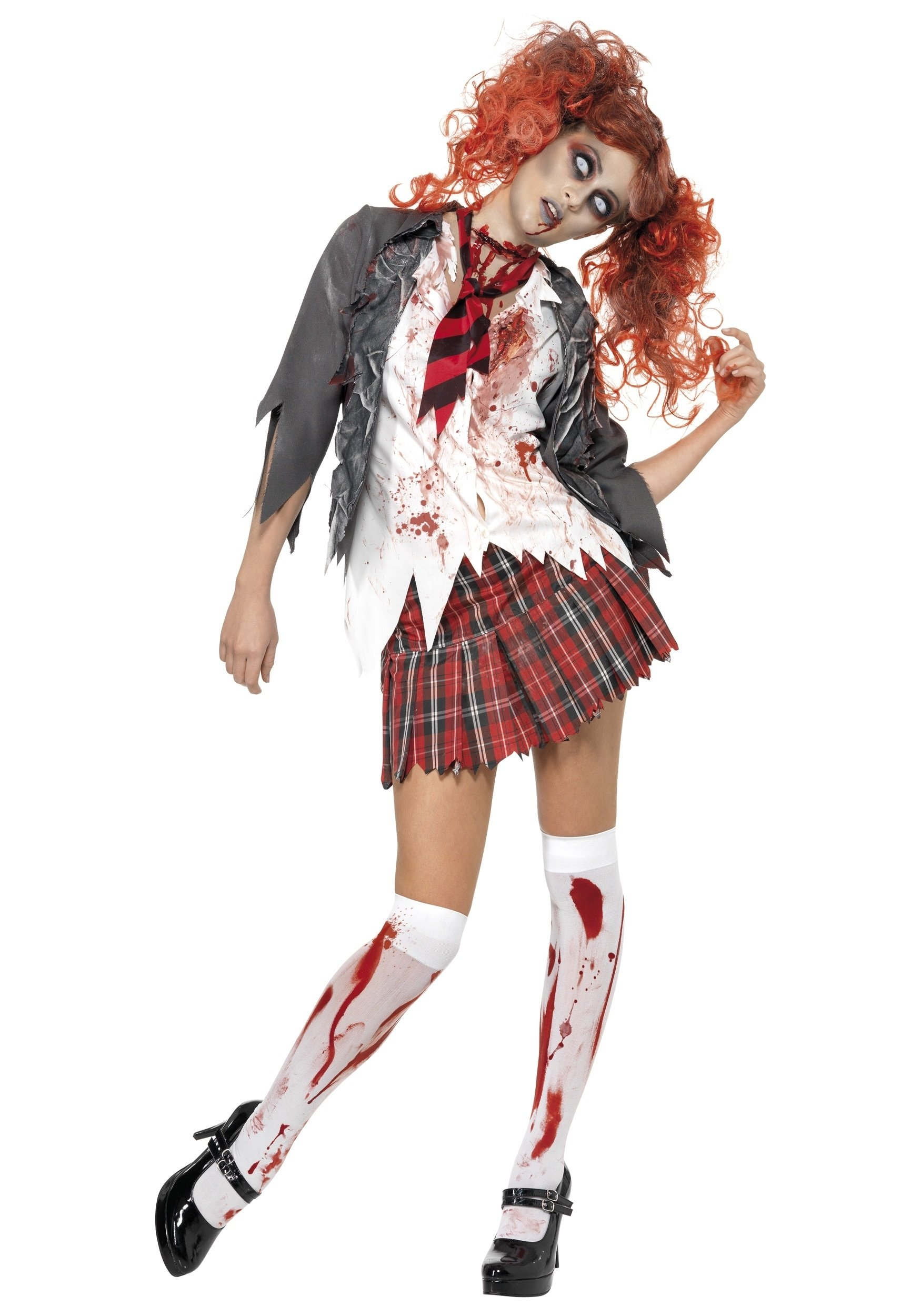 10 Amazing Zombie Costume Ideas For Girls school girl zombie costume 1