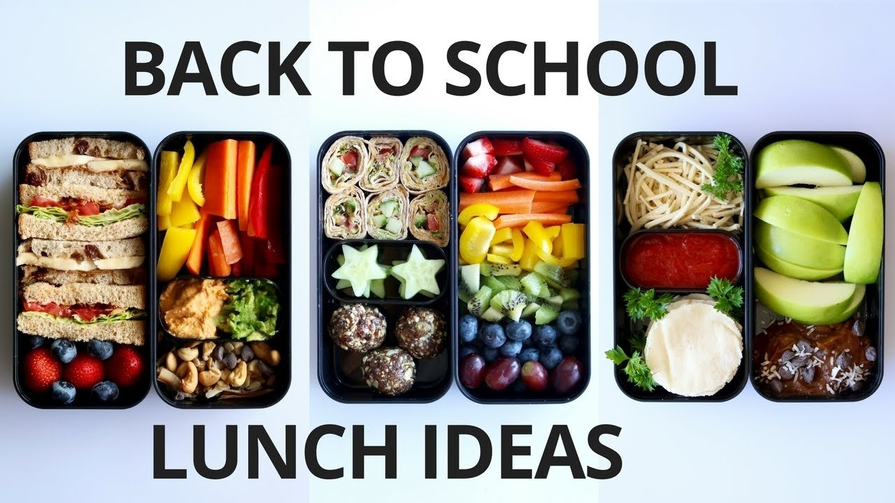 10 Nice Ideas For Kids Lunches For School school lunch ideas for kids vegan youtube 2021