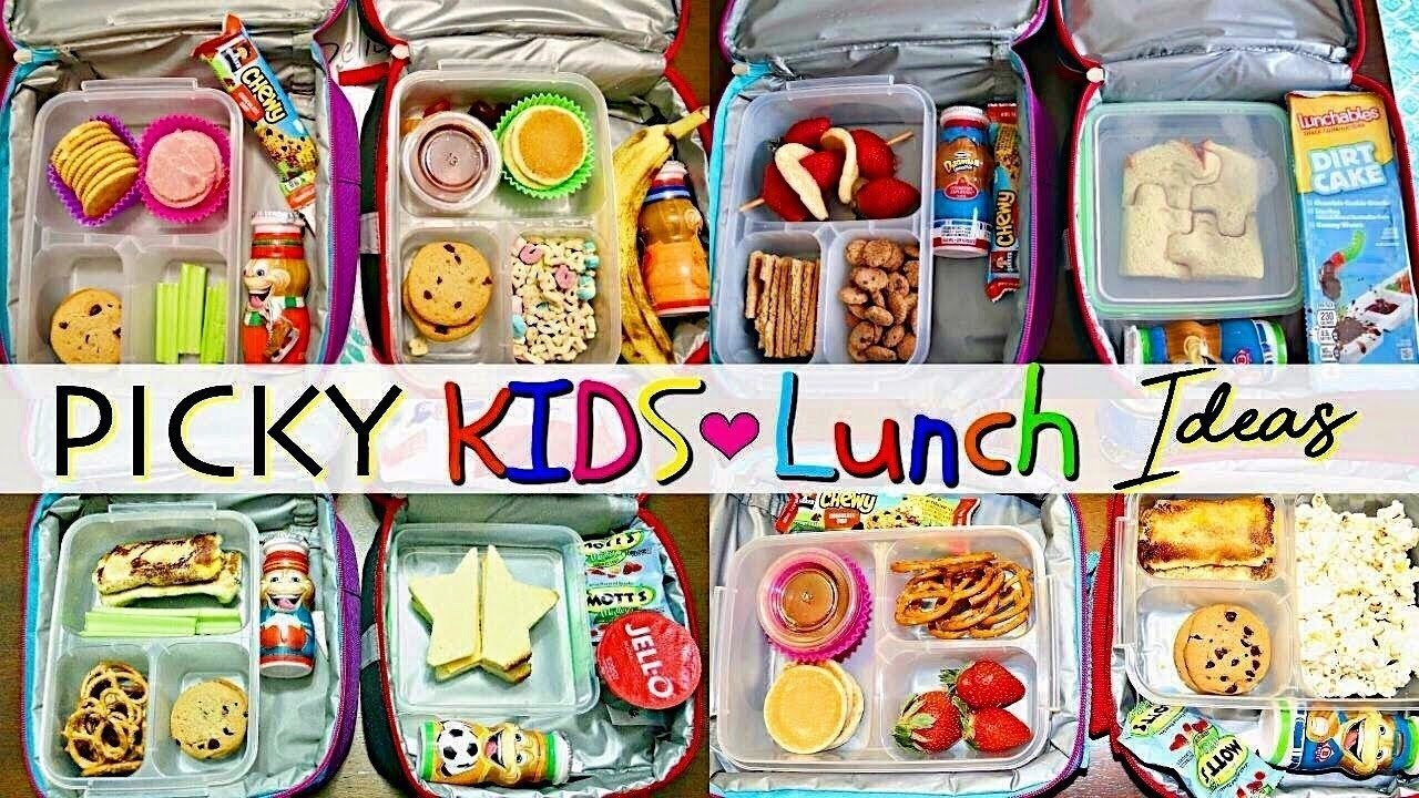 10 Cute Lunch Box Ideas For Picky Eaters school lunch ideas for picky eaters youtube 6 2020