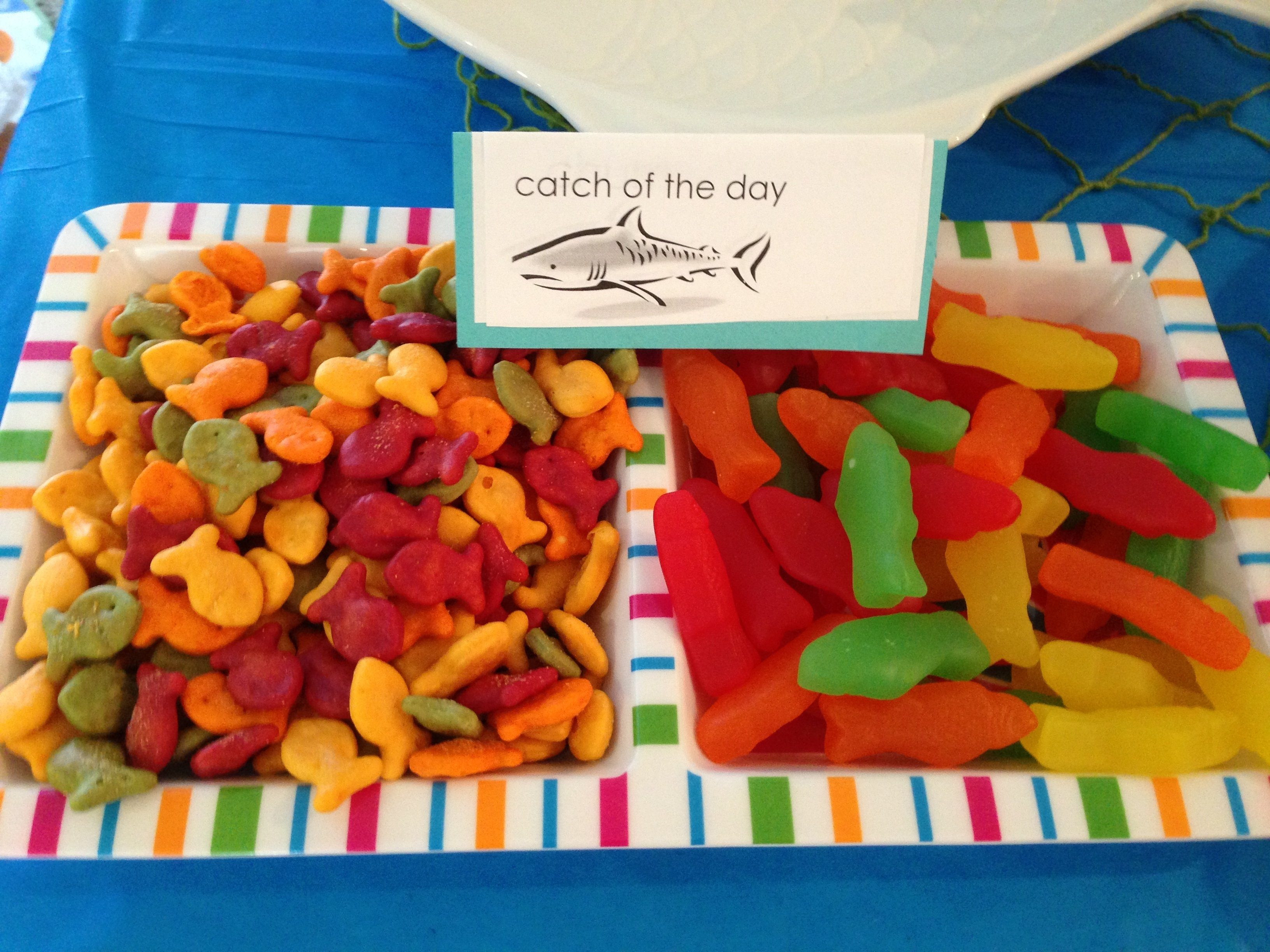10 Stylish Pool Party Food Ideas For Kids school of sharks shark party 1st birthday beach party pool party 2020