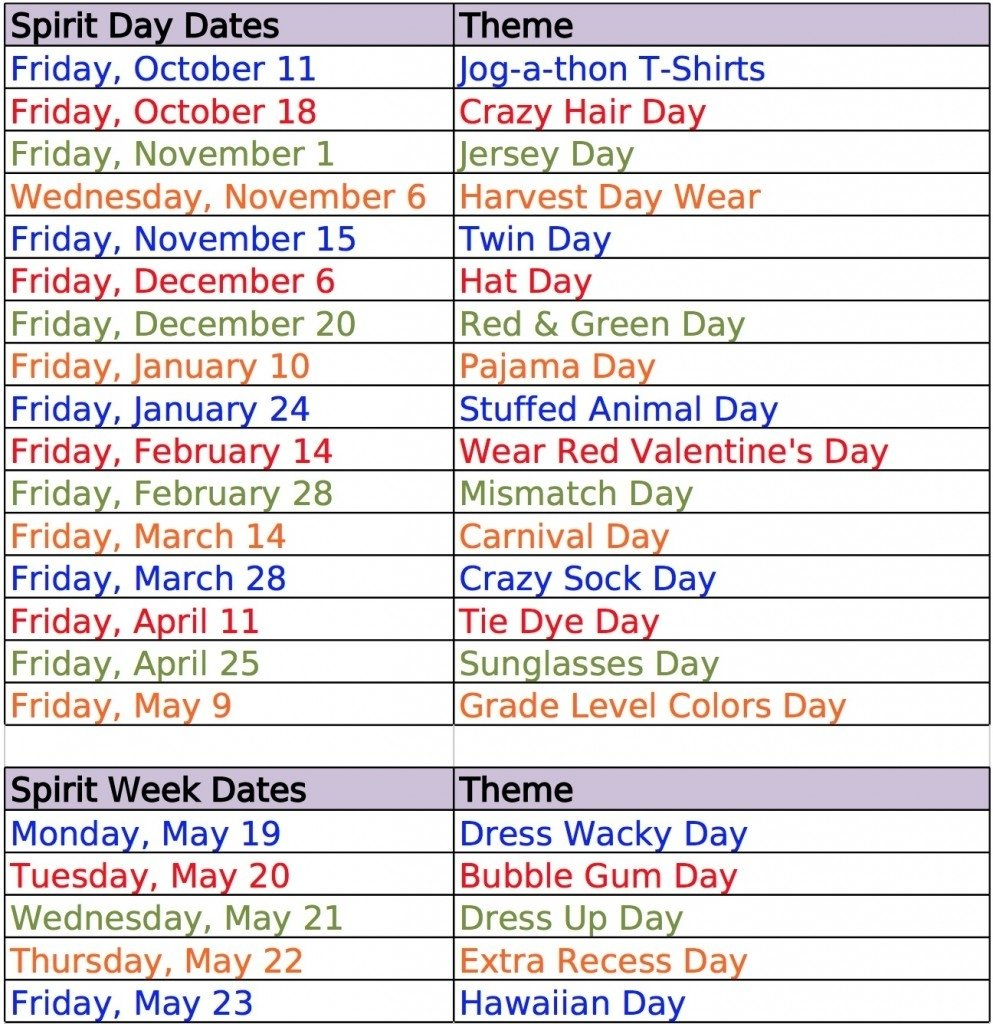 10 Ideal Spirit Week Ideas For Work school spirit day ideas education school classroom fun 8 2021