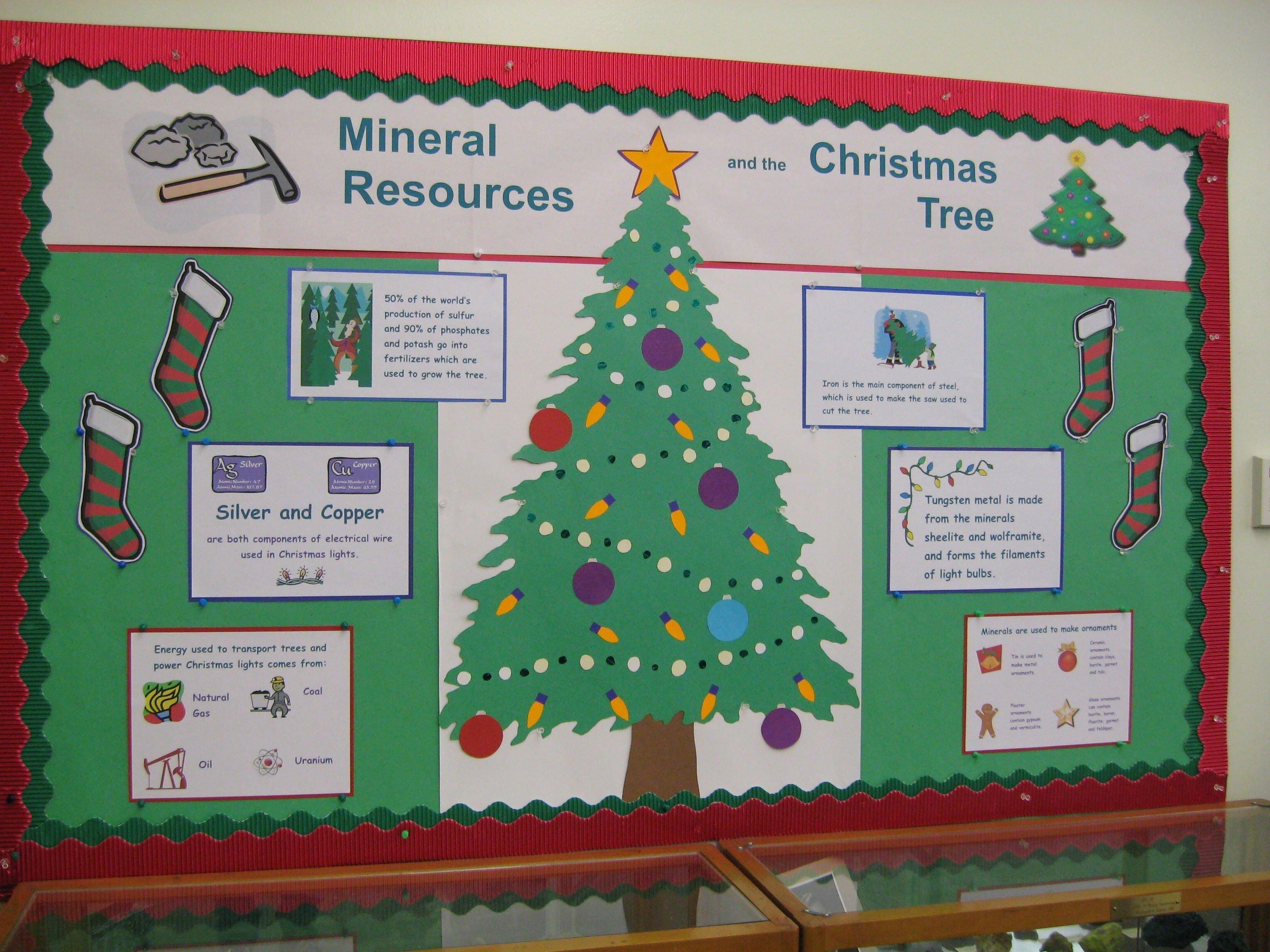 10 Attractive Christmas Tree Bulletin Board Ideas science bulletin board ideas mineral resources of christmas trees 2021