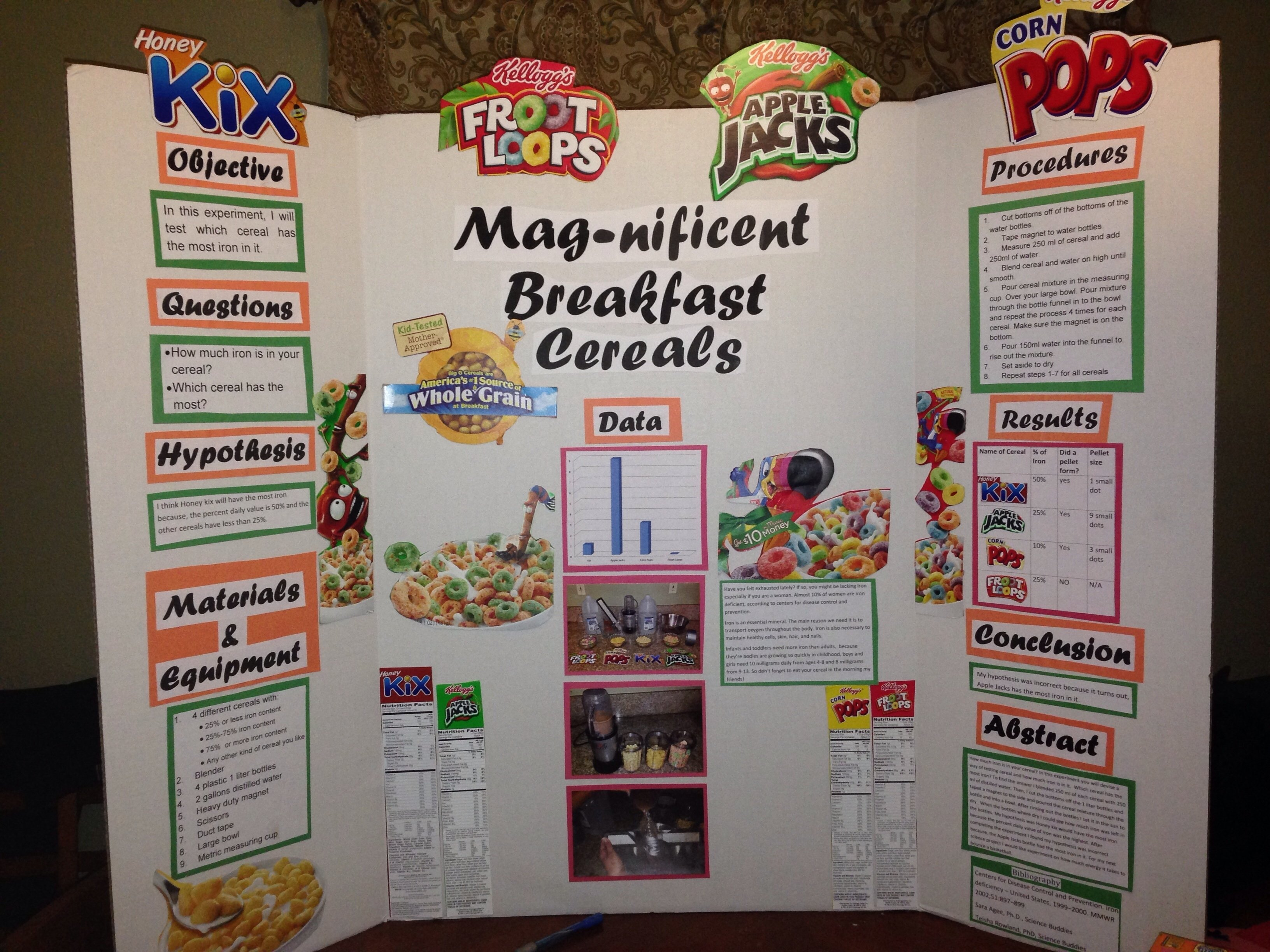 10 Fashionable Science Fair Ideas With Food science fair order mag nificent breakfast cereal 17 best images 2020