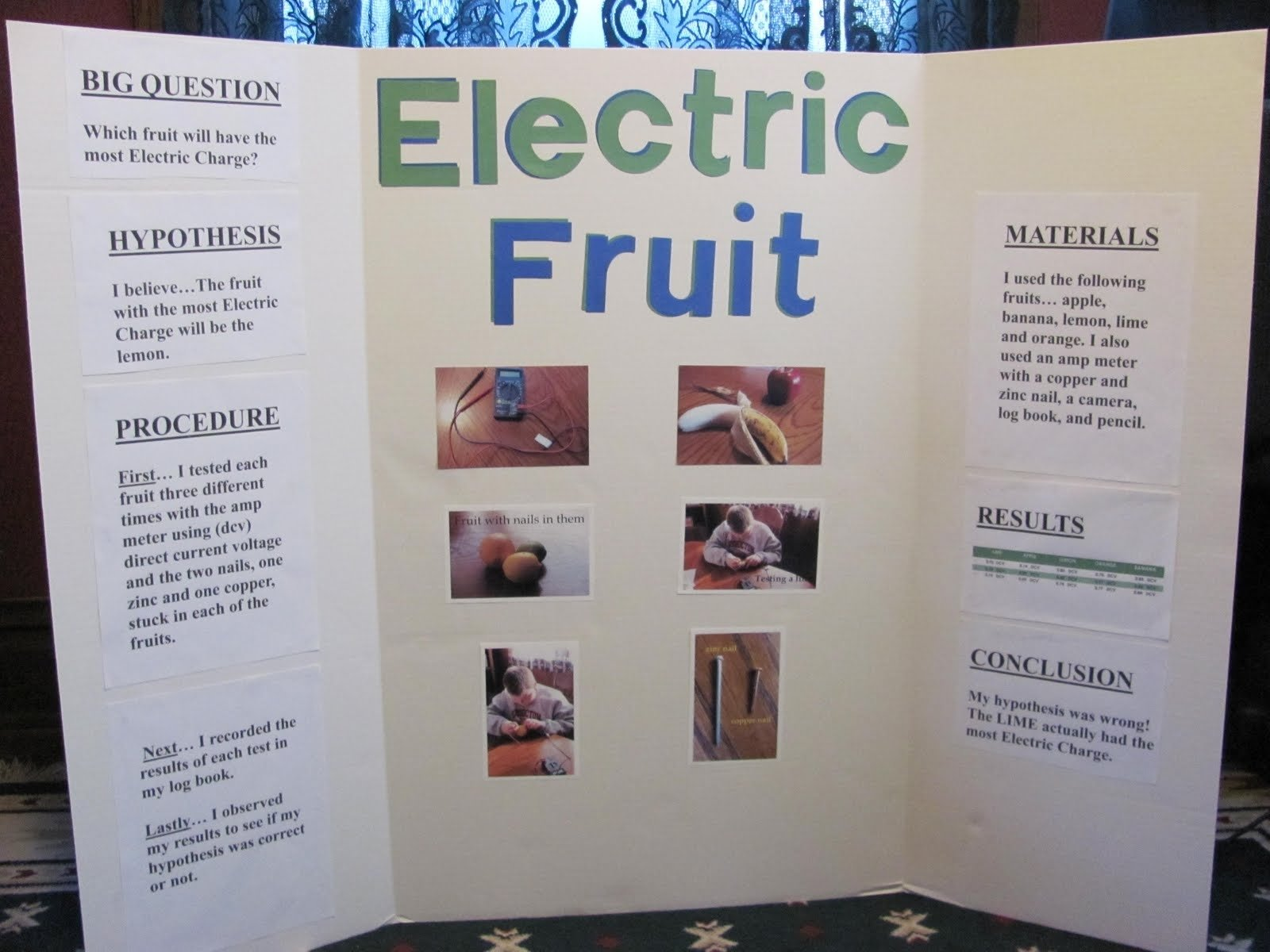 science fair projects | he estimated the lemon would, but actually