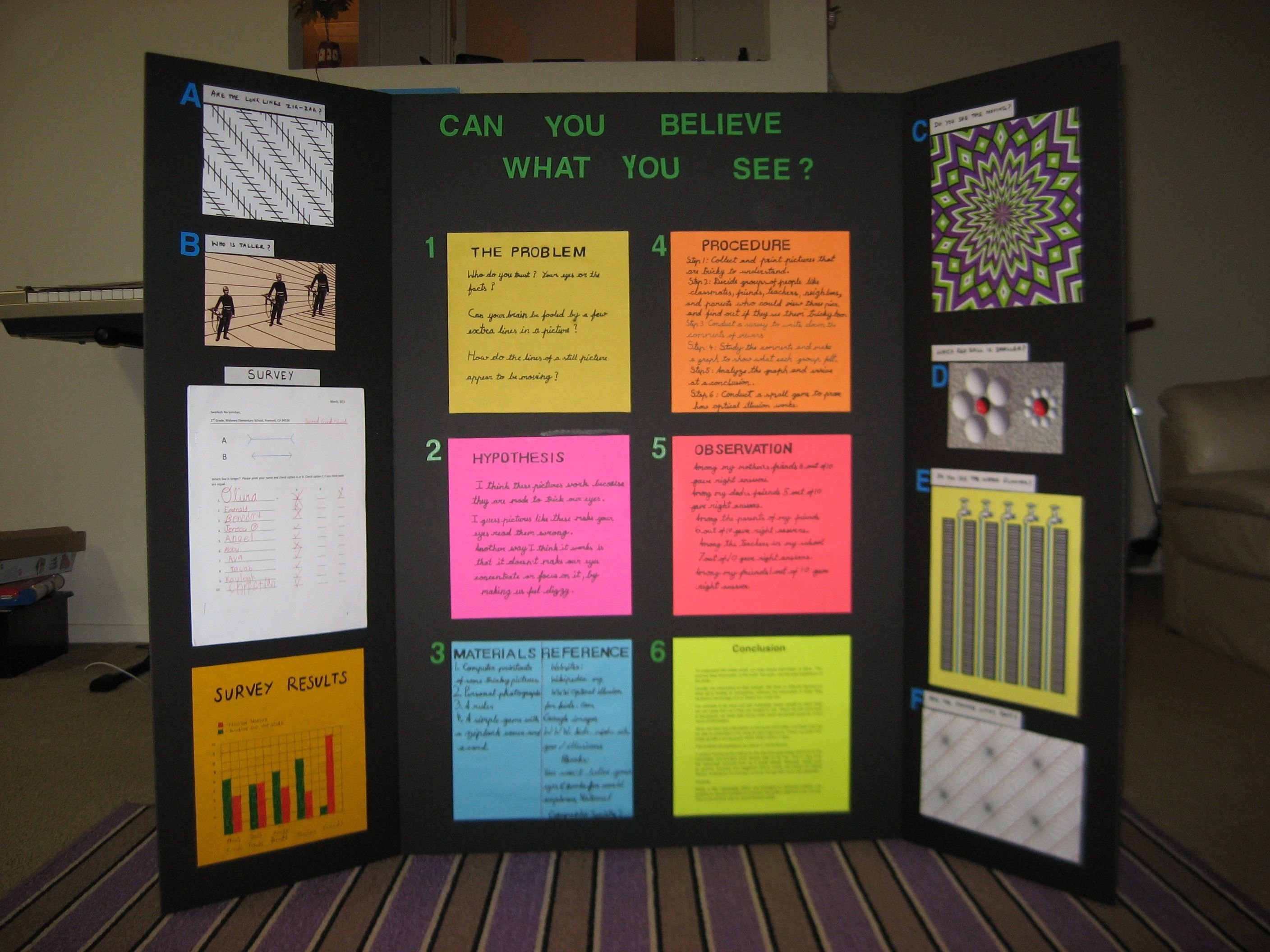 10 Lovely Science Fair Project Ideas For 10Th Grade science project on optical illusion school projects and craft