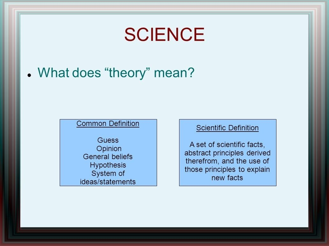 10 Best What Does Abstract Ideas Mean science what does theory mean common definition guess opinion