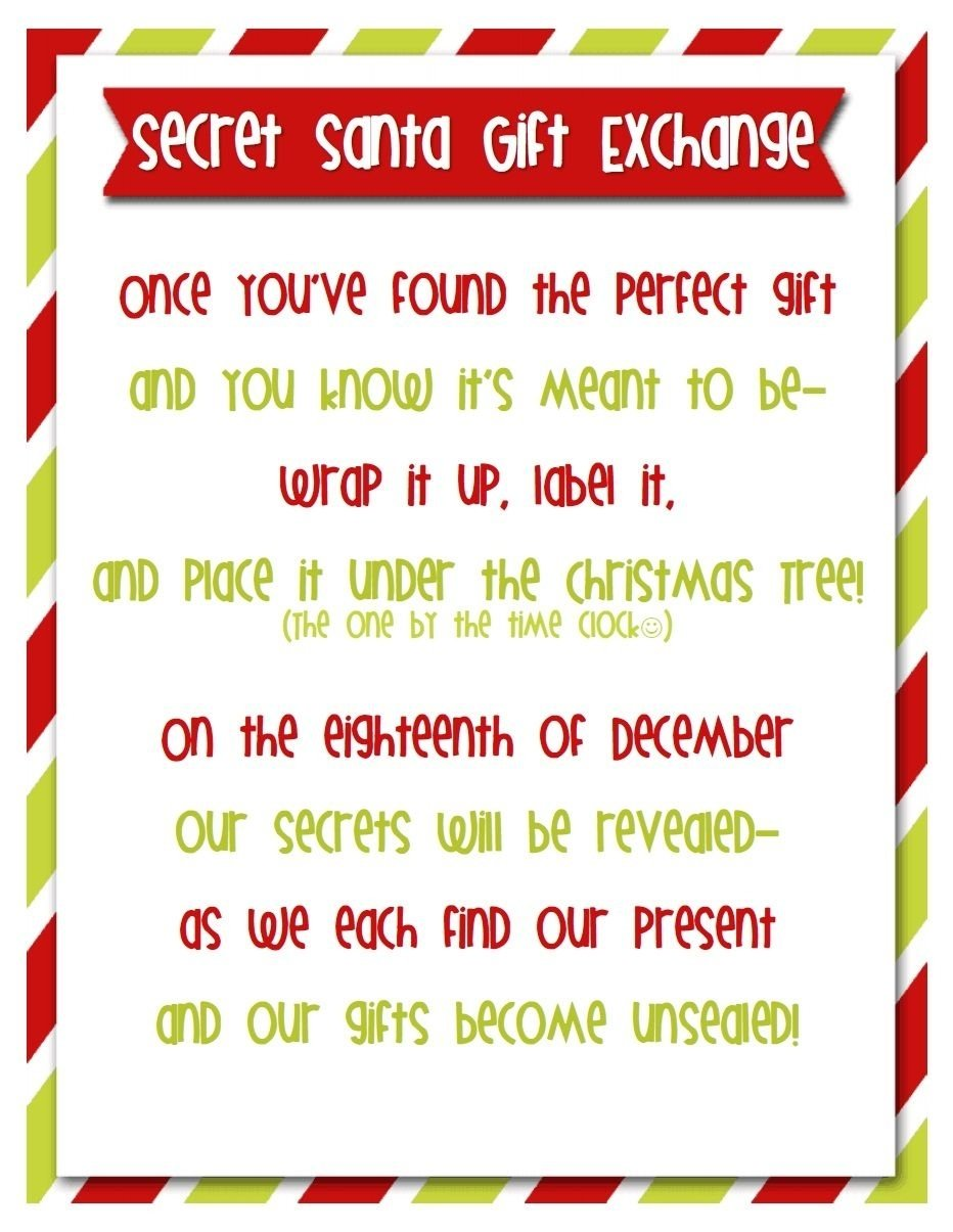 10 Cute Large Family Christmas Gift Exchange Ideas secret santa is a great tradition to play with friends and family 2021