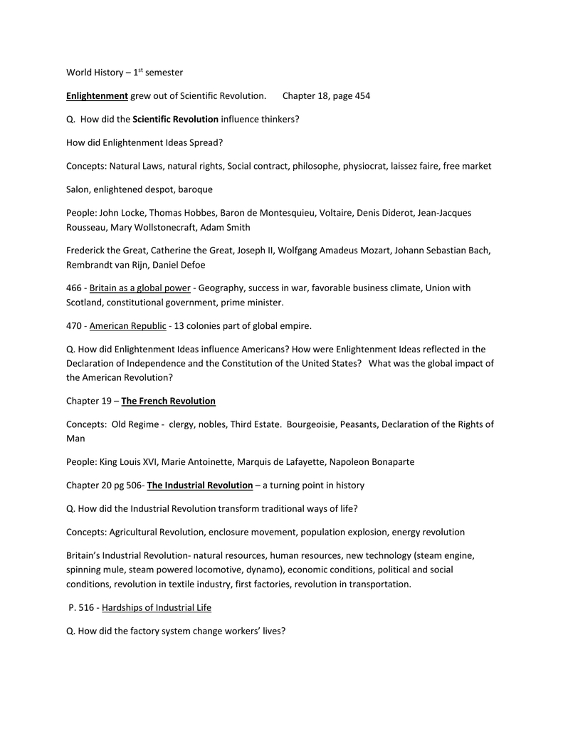10 Amazing Enlightenment Ideas In The Declaration Of Independence semester review sheet 2021