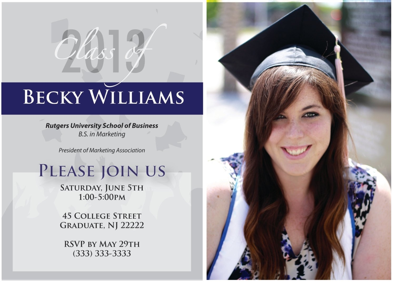 10 pretty high school graduation invitation ideas