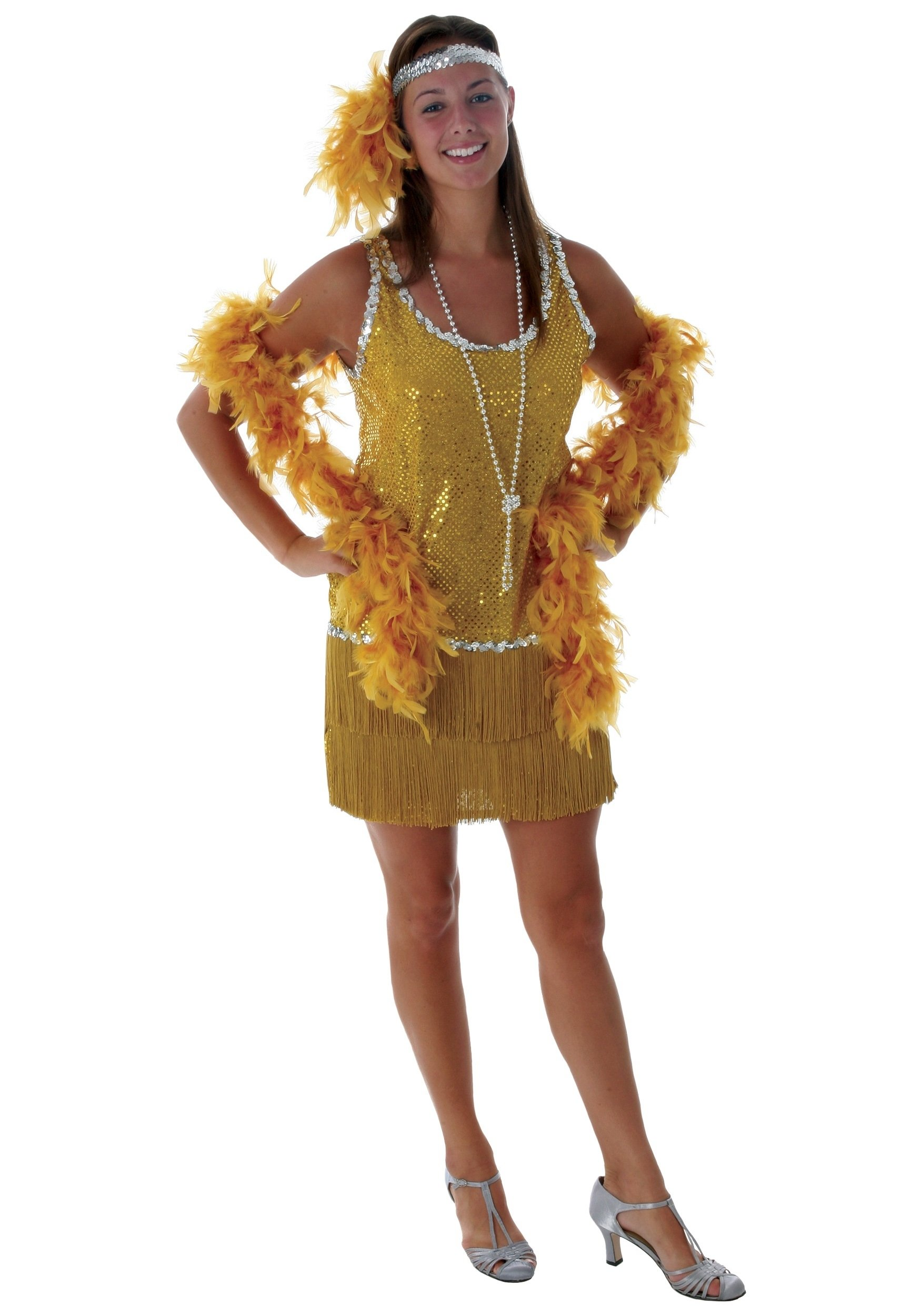 10 Awesome Mardi Gras Dress Up Ideas sequin fringe gold flapper costume 2020