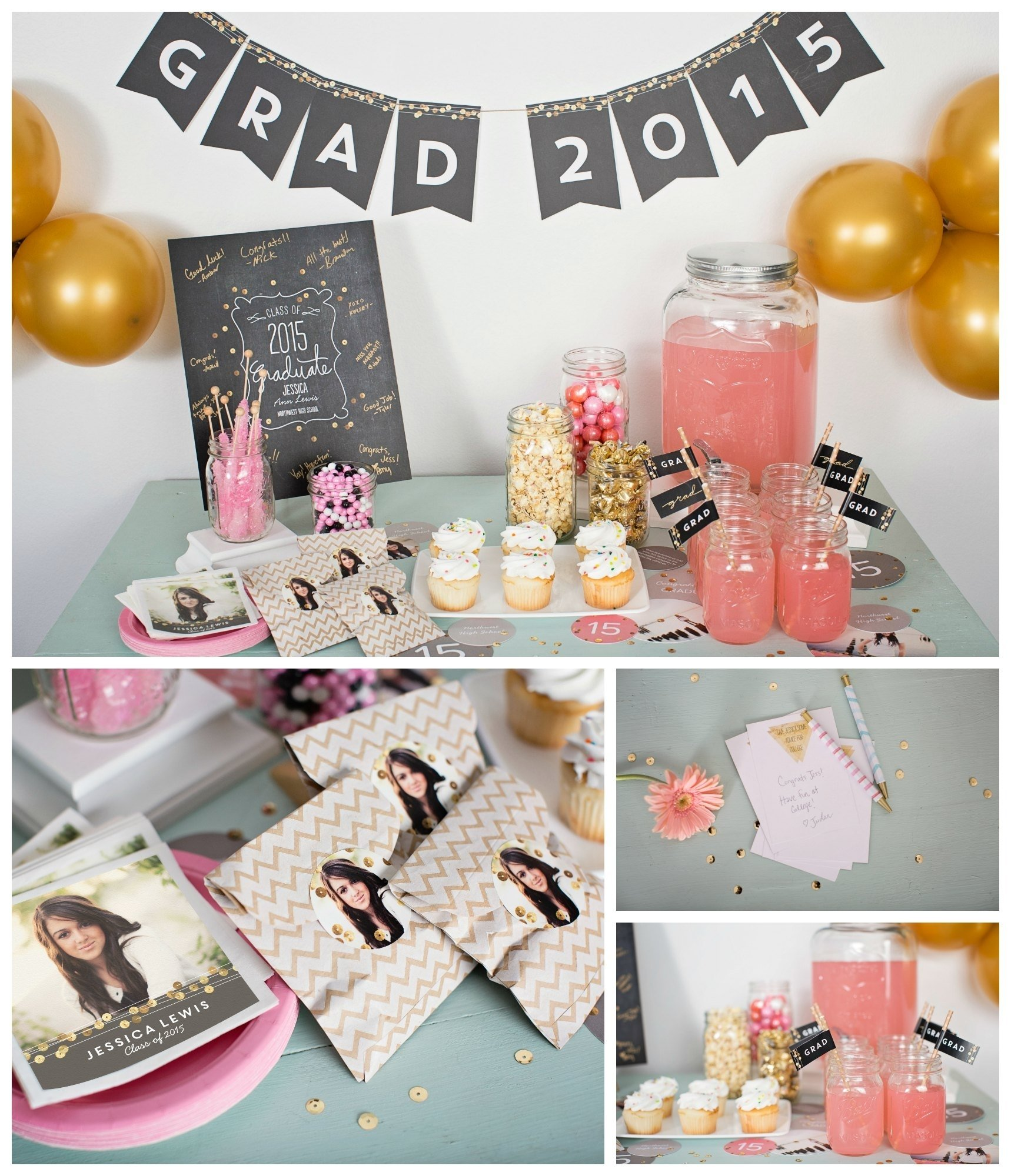 10 Famous High School Grad Party Ideas sequin inspired graduation party ideas pear tree blog 4 2020