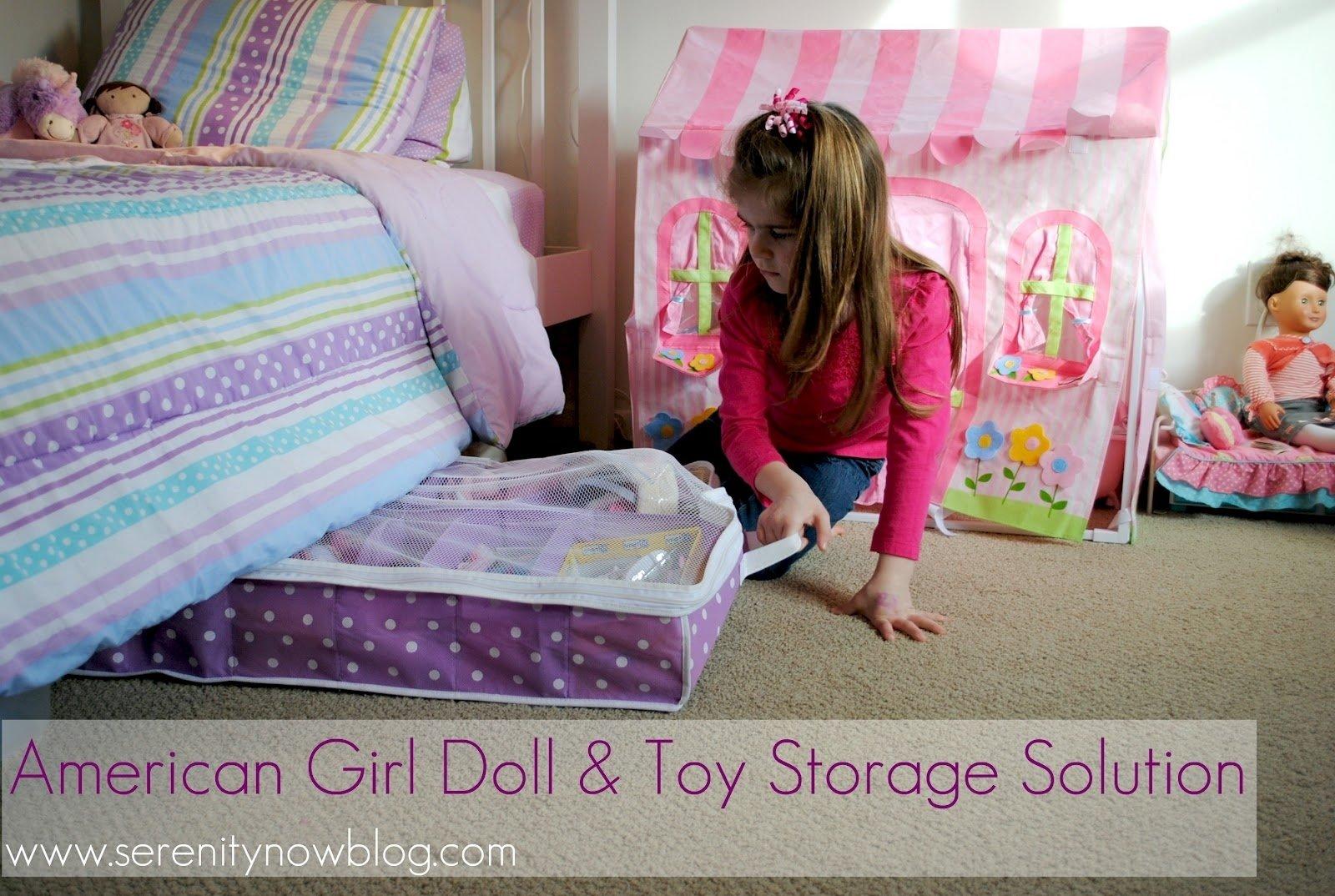 10 Spectacular American Girl Doll Storage Ideas serenity now american girl doll and toy storage solution 2021