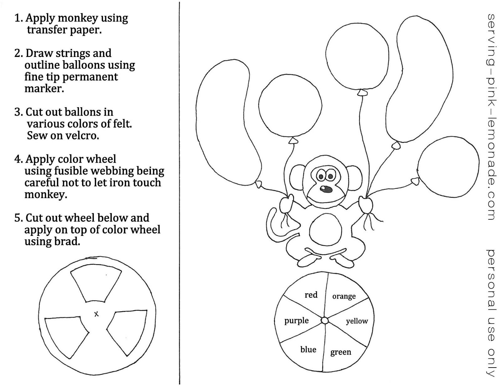 serving pink lemonade: quiet book templates