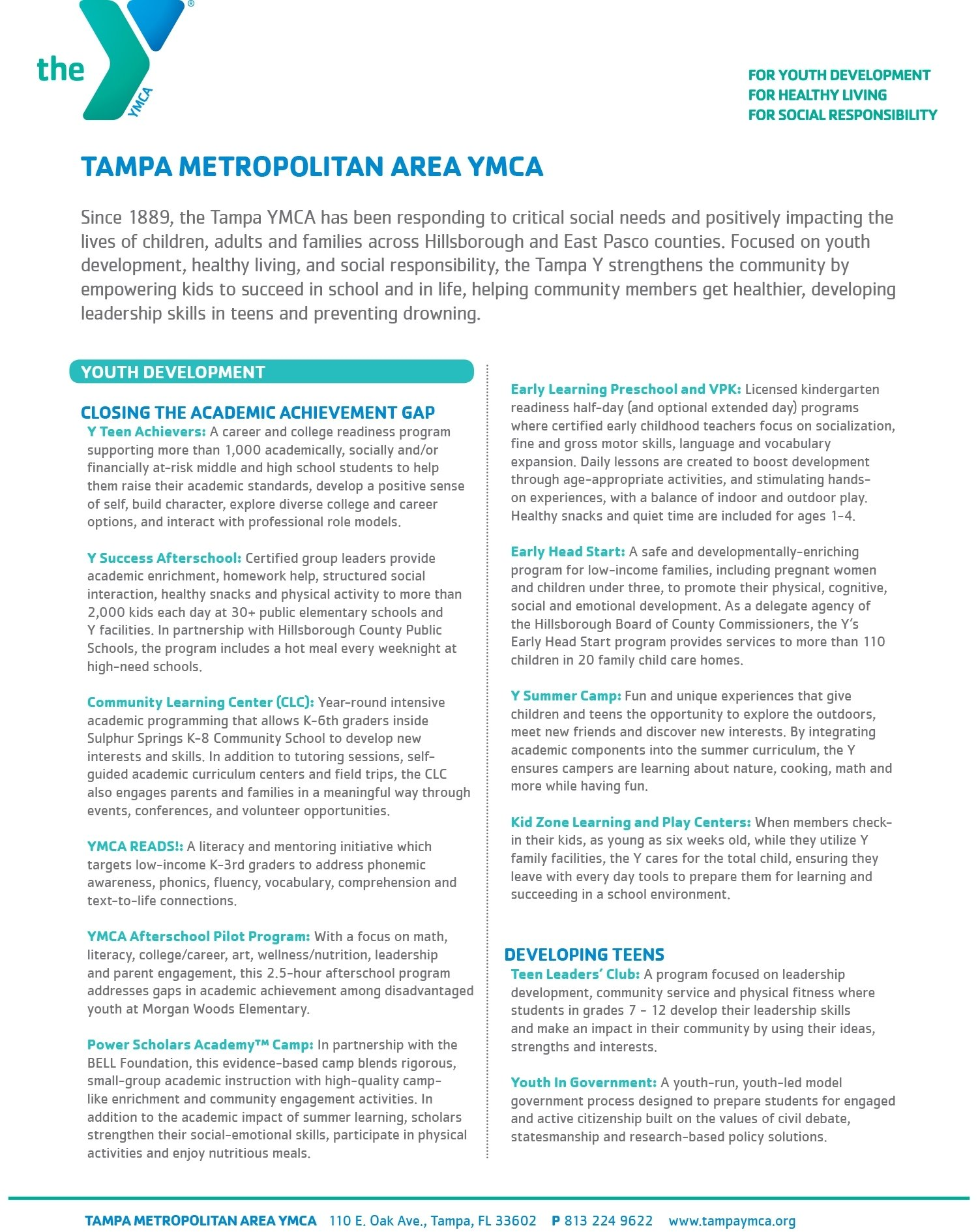 10 Best Community Service Ideas For High School Students serving the community tampa metropolitan area ymca 1 2020