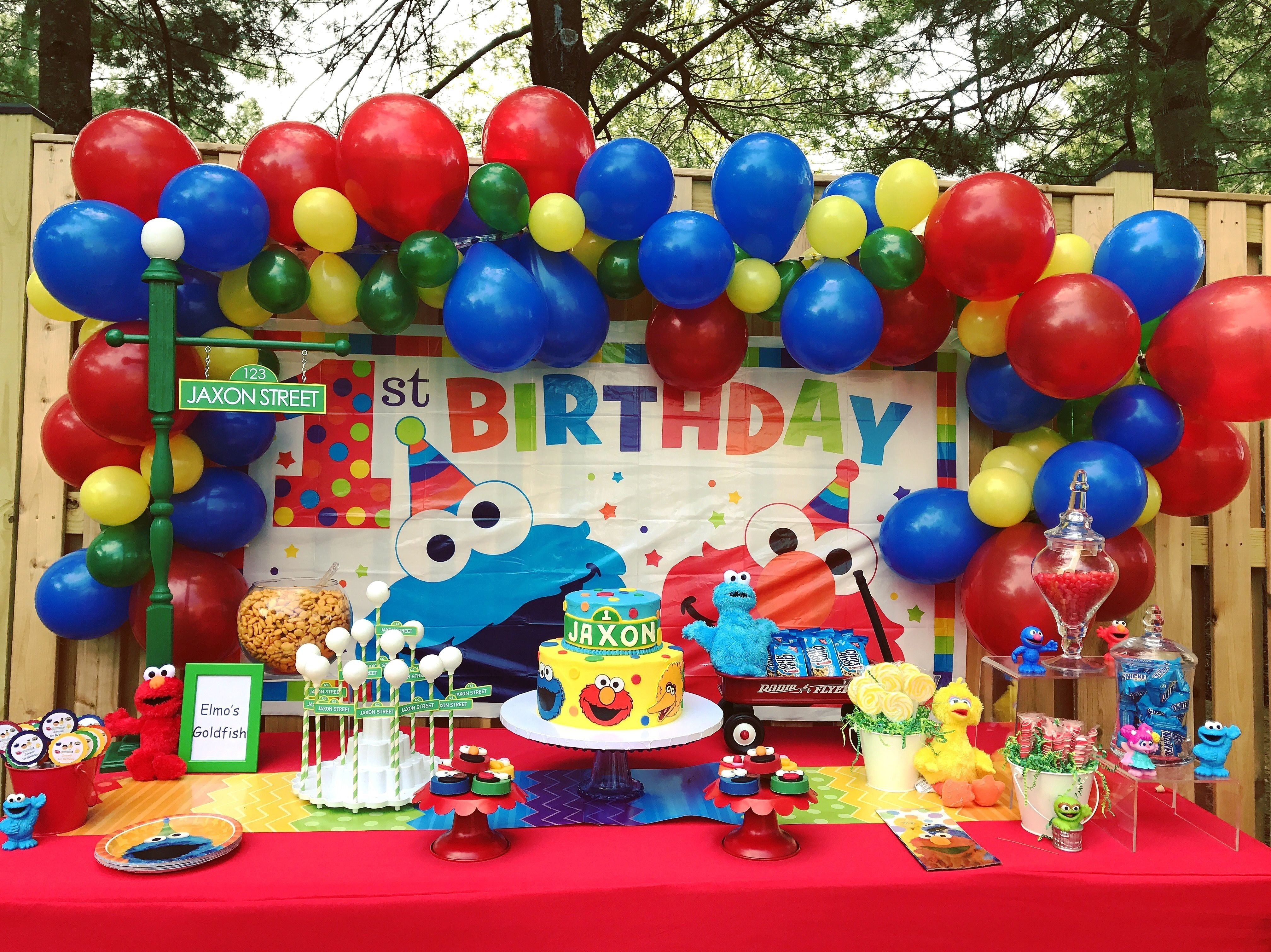 10 Lovely Sesame Street Party Ideas Decorations sesame street first birthday potomac parties events pinterest 4 2020