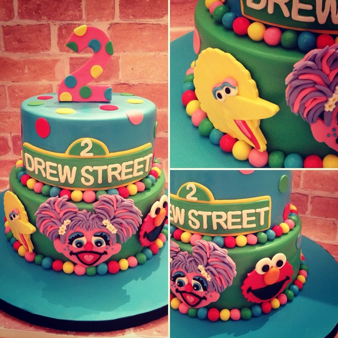 10 Great Elmo 2Nd Birthday Party Ideas Sesame Street Themed Cake For A 2yr Old